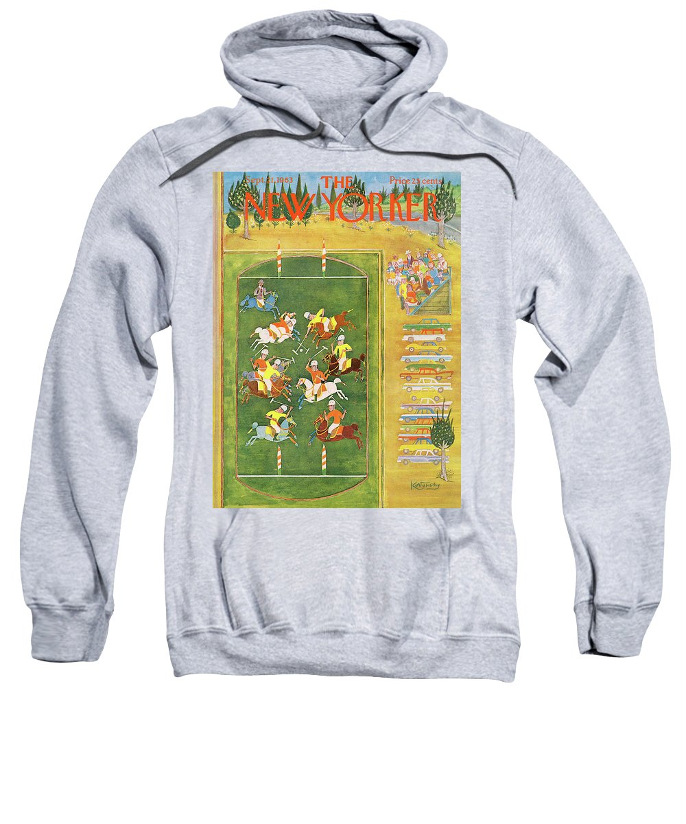 Sport Sweatshirt featuring the painting New Yorker September 21st, 1963 by Anatol Kovarsky