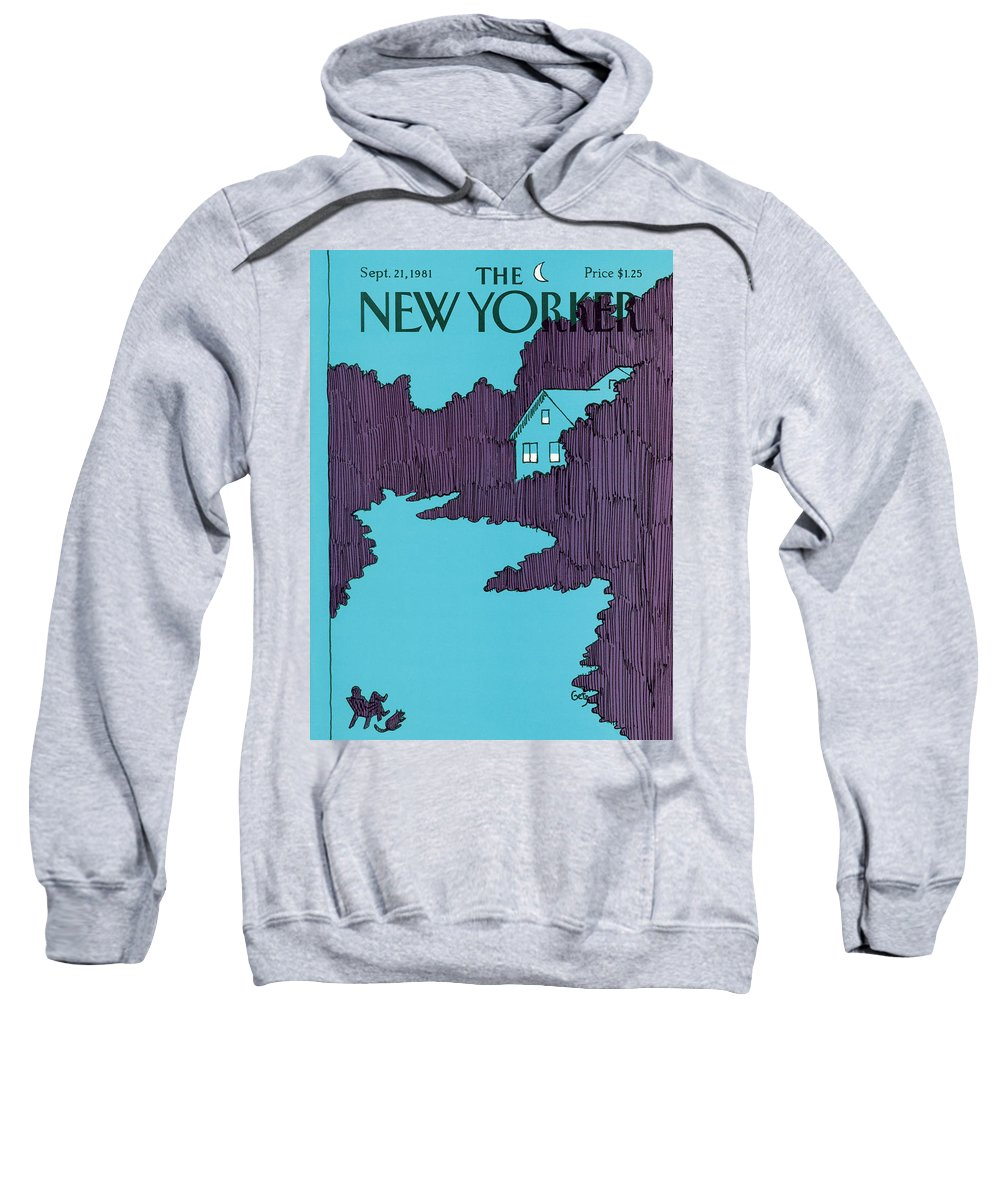 House Sweatshirt featuring the painting New Yorker September 21st, 1981 by Arthur Getz