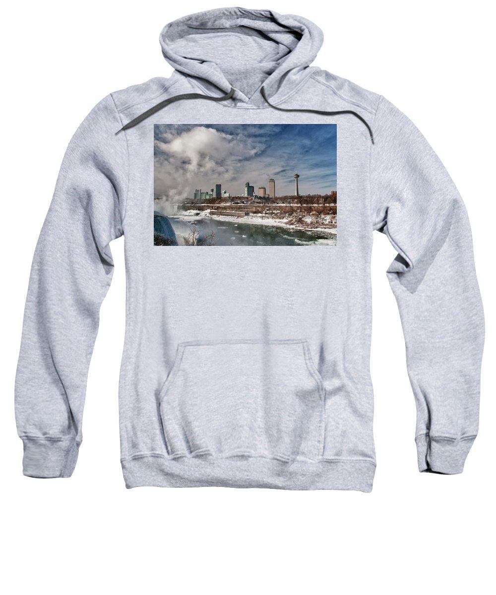 Niagara Falls Sweatshirt featuring the photograph Niagara Falls The City 4534 by Guy Whiteley