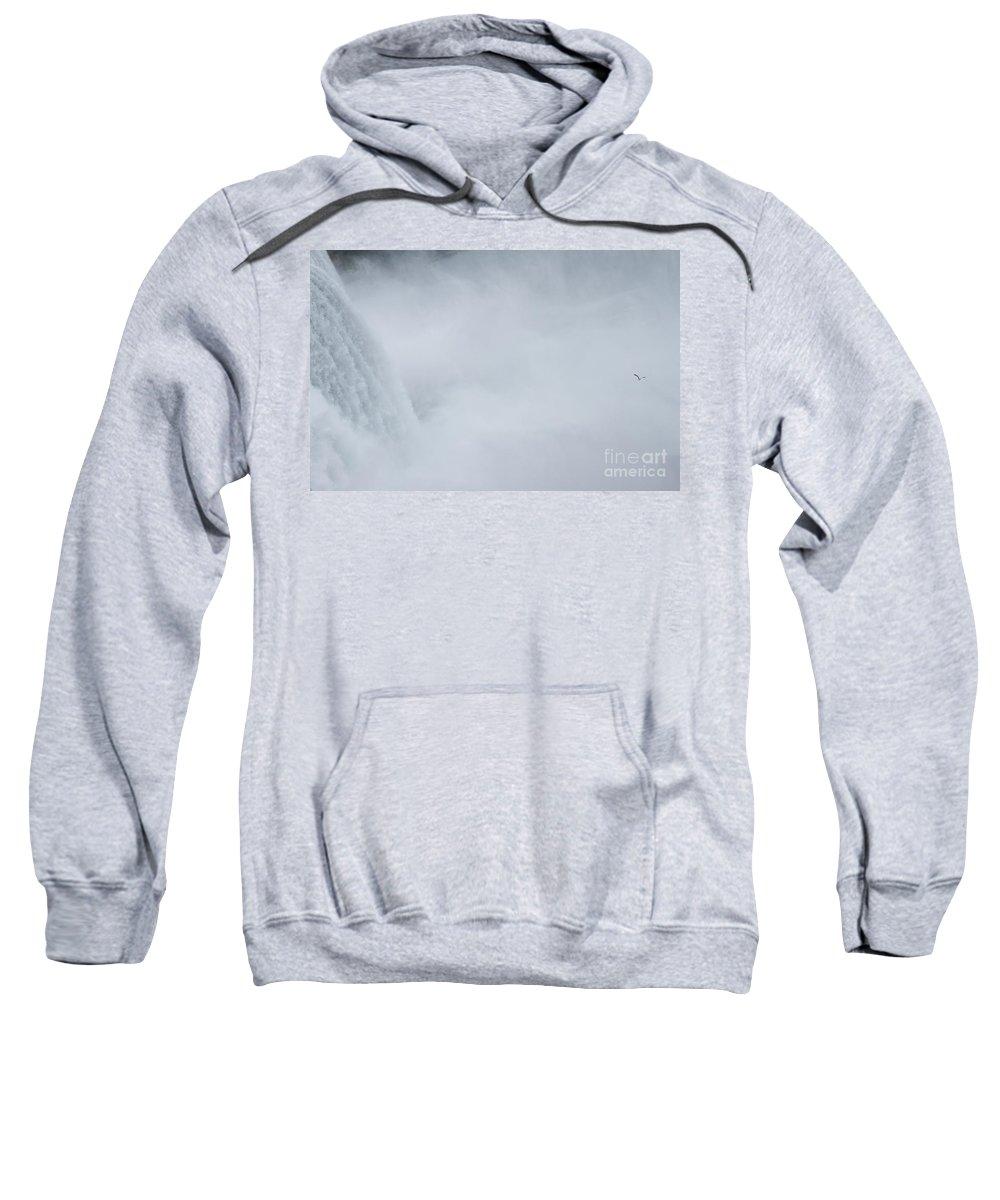 Sweatshirt featuring the photograph Niagara Falls Two by Sara Schroeder