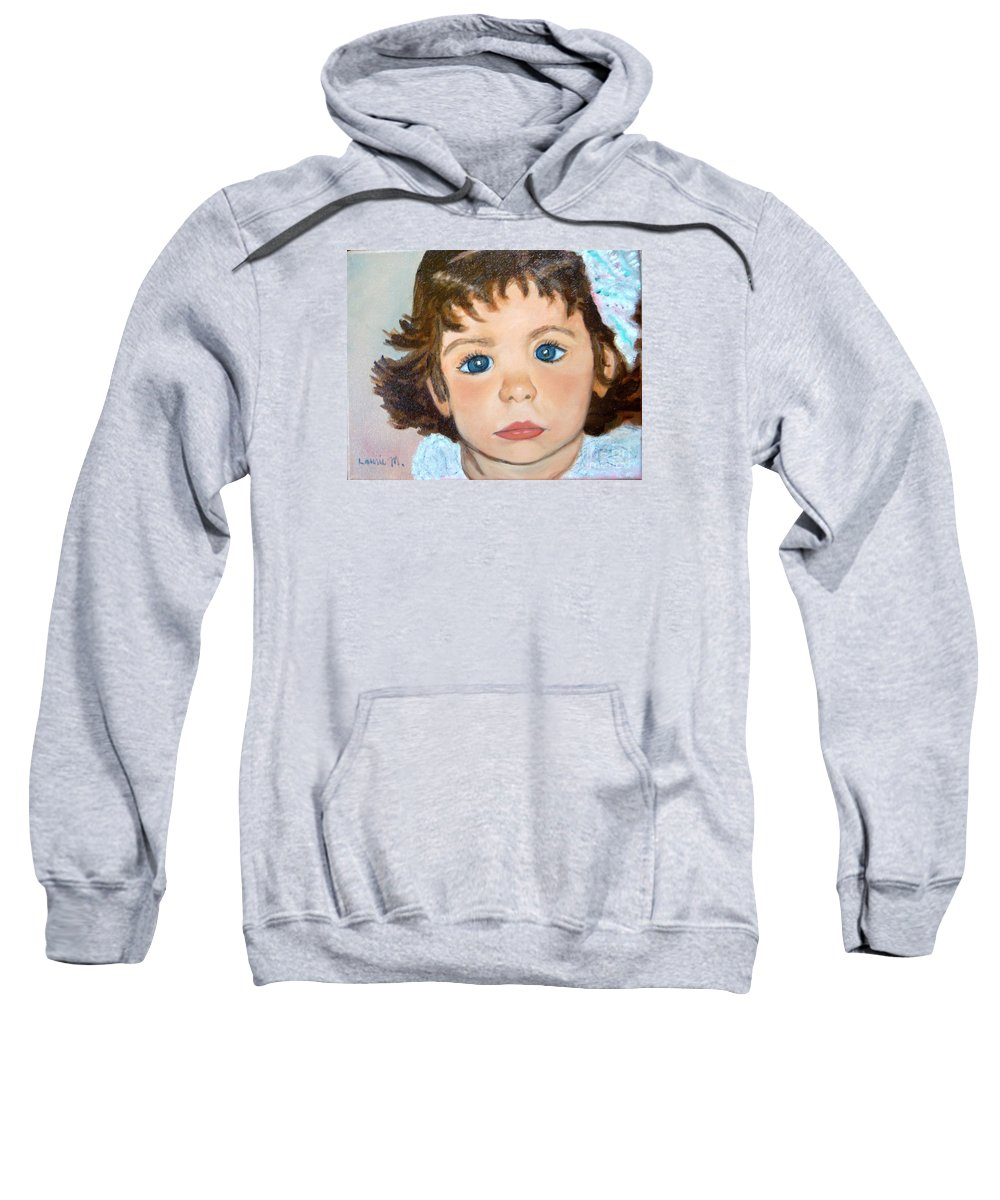 Portrait Sweatshirt featuring the painting Nikki by Laurie Morgan