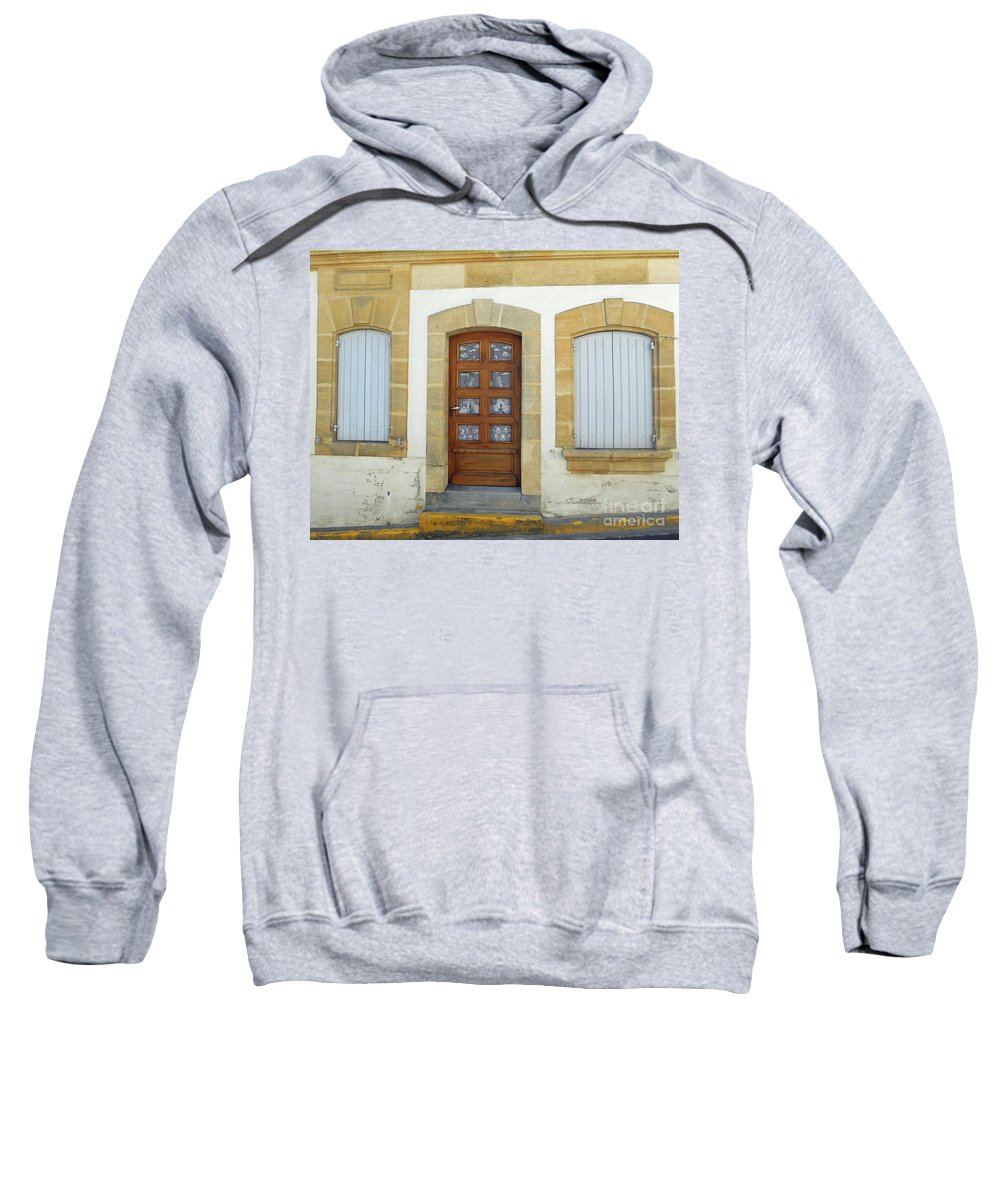 France Sweatshirt featuring the photograph No One Home by Lauren Leigh Hunter Fine Art Photography