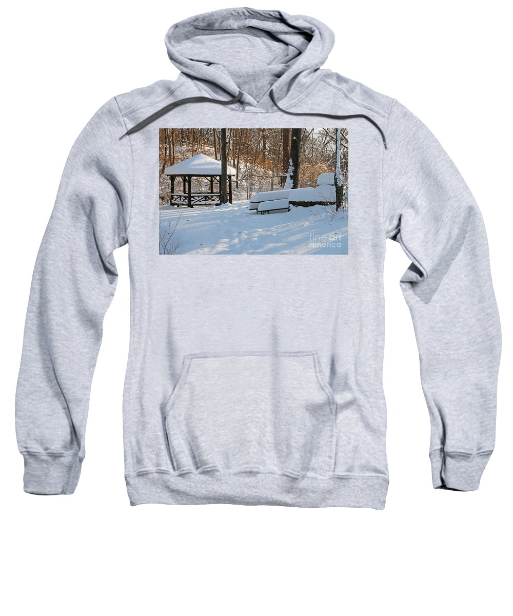 No Picnic Today Sweatshirt featuring the photograph No Picnic Today by Jack Schultz