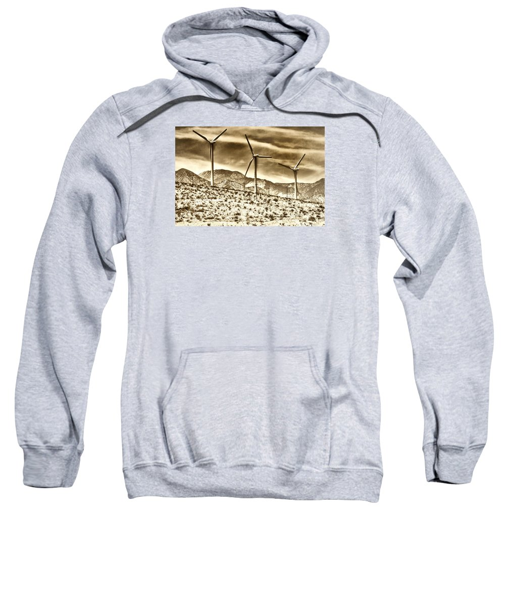 Featured Sweatshirt featuring the photograph No Place Like Home 3 Palm Springs by William Dey
