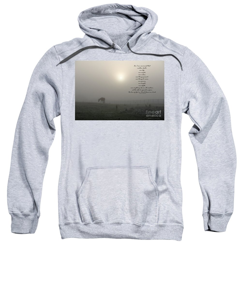 Romans 8 Sweatshirt featuring the photograph Nor by David Arment