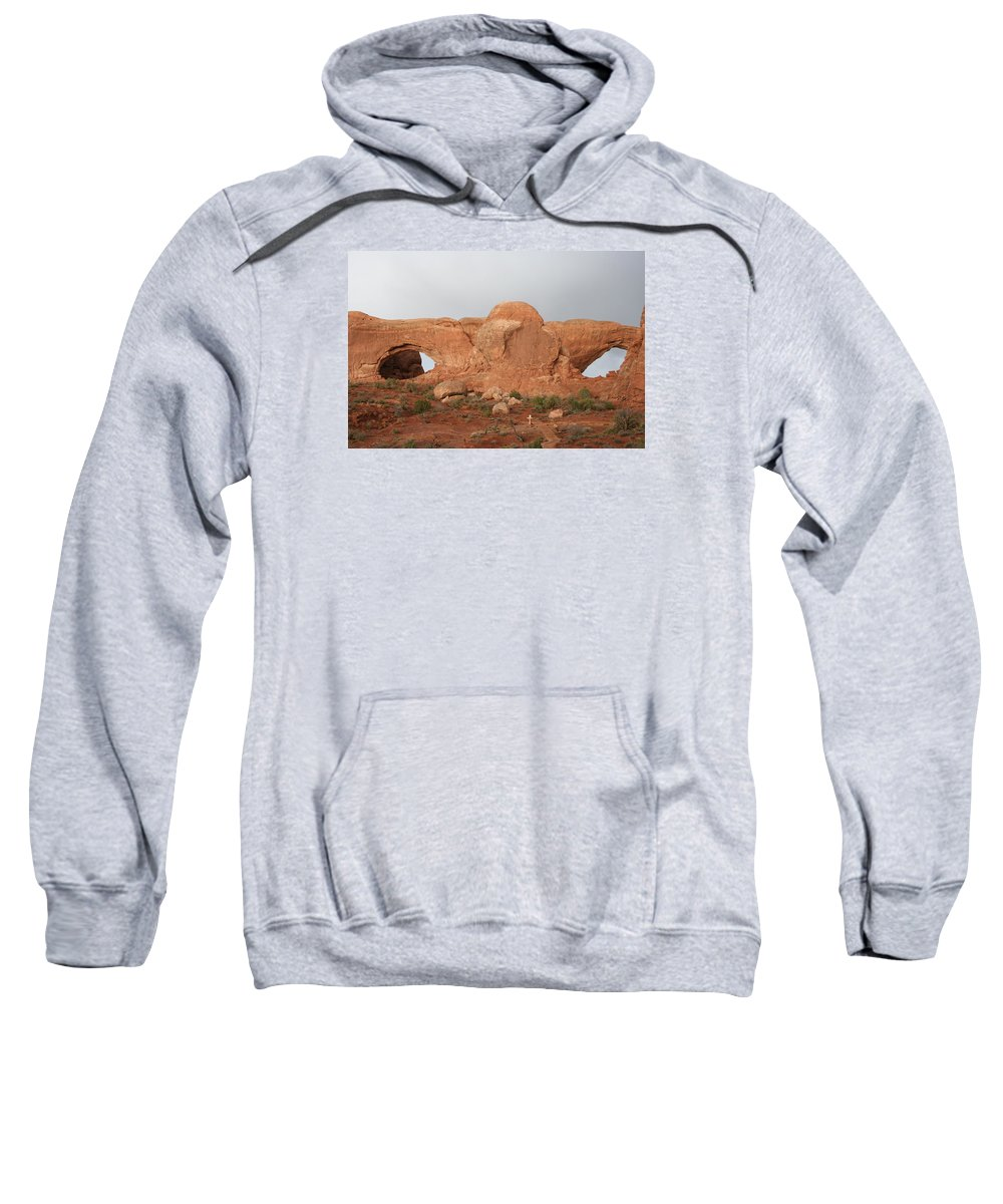 Window Sweatshirt featuring the photograph North And South Window Arches Np by Christiane Schulze Art And Photography