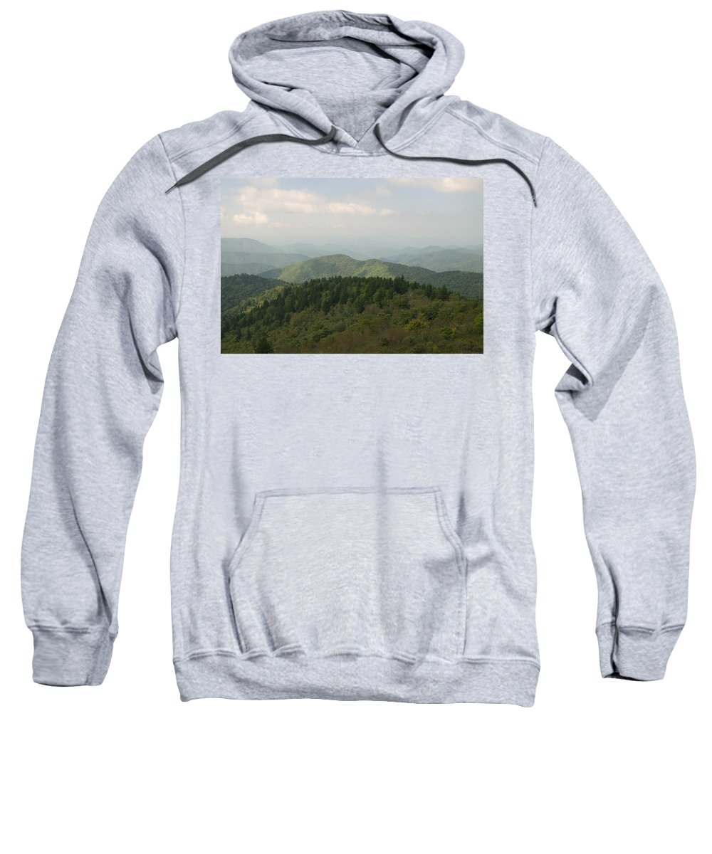Mountain Sweatshirt featuring the photograph North Carolina Blue Ridge Mountains by Charles Beeler
