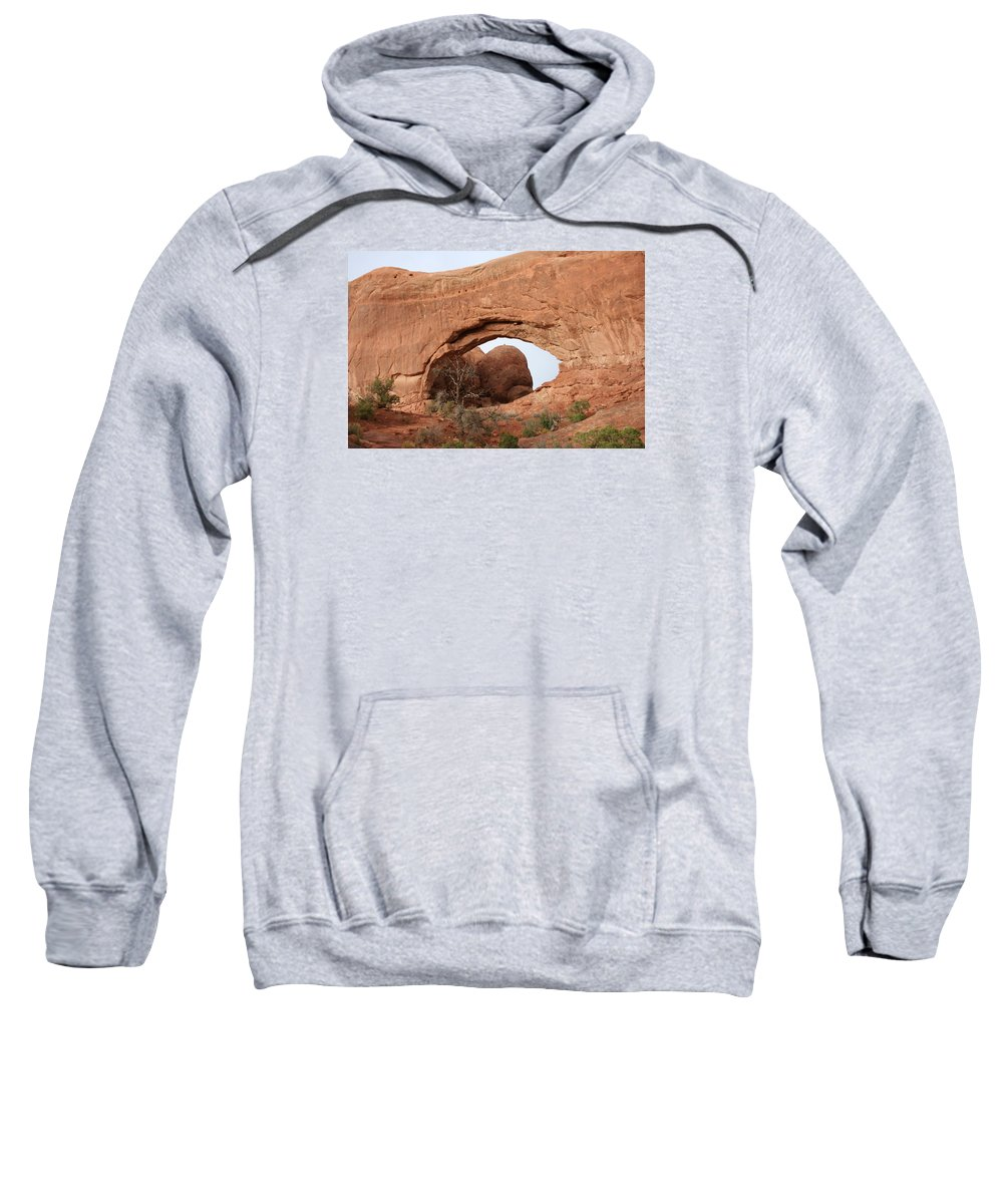 North Window Sweatshirt featuring the photograph North Window Arches Park by Christiane Schulze Art And Photography