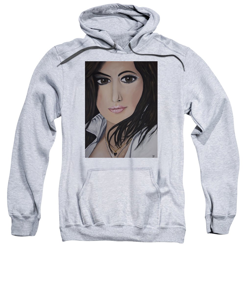 Actress Sweatshirt featuring the painting Noureen Dewulf by Dean Stephens