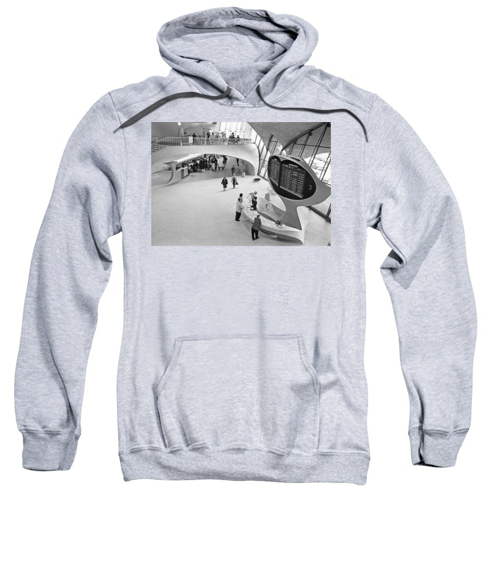 1965 Sweatshirt featuring the photograph Nyc Airport, 1965 by Granger