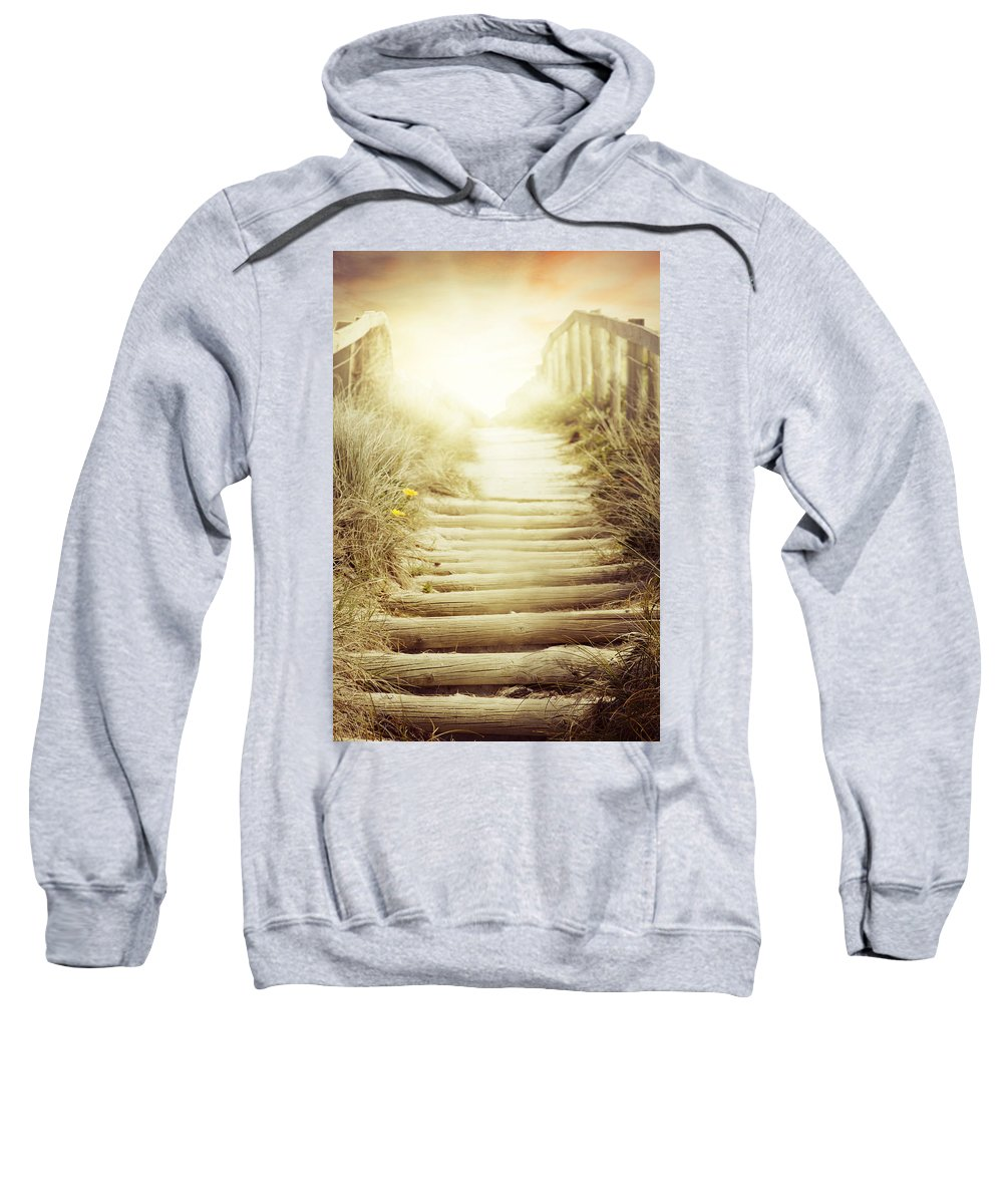 Adventure Sweatshirt featuring the photograph Nz Walkway by Les Cunliffe