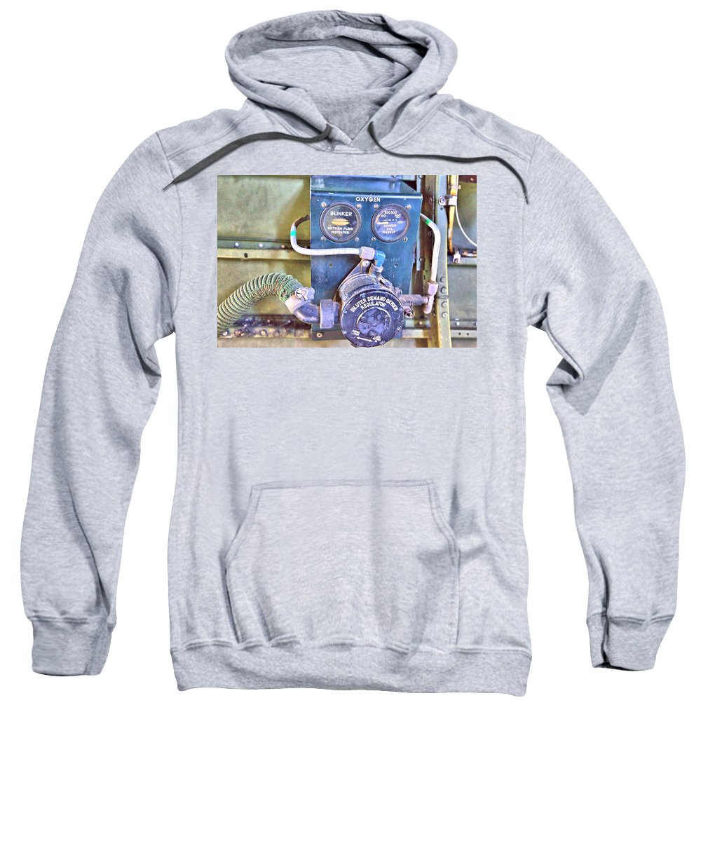 9231 Sweatshirt featuring the photograph O2 Regulator by Gordon Elwell