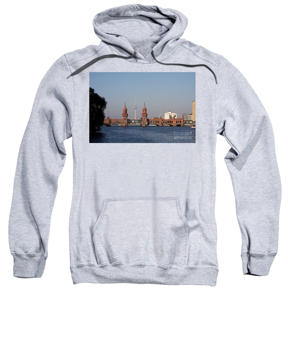 Oberbaum Bruecke Sweatshirt featuring the photograph Oberbaum Bridge - Berlin by Christiane Schulze Art And Photography