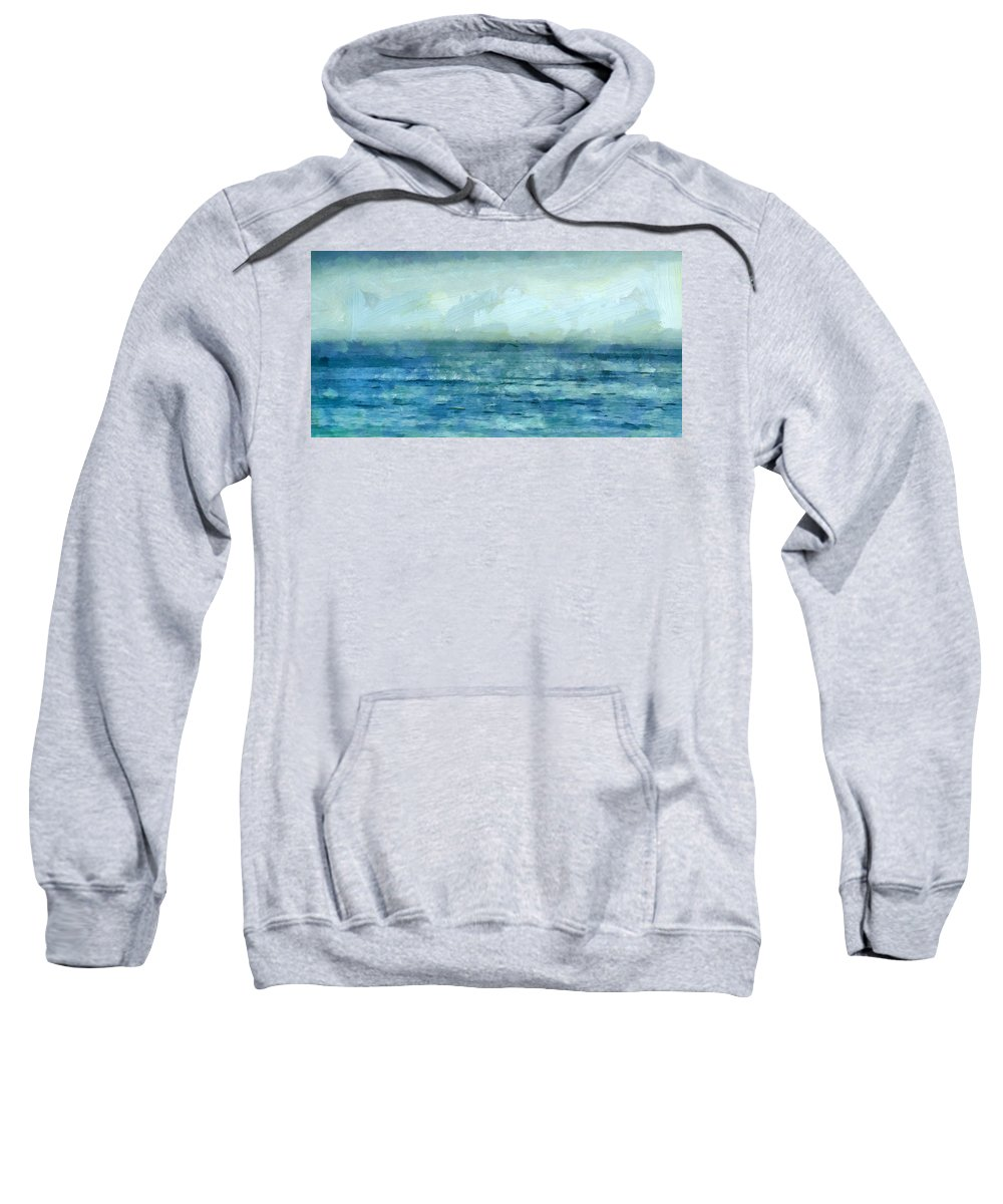 Ocean Sweatshirt featuring the mixed media Ocean 3 by Angelina Vick