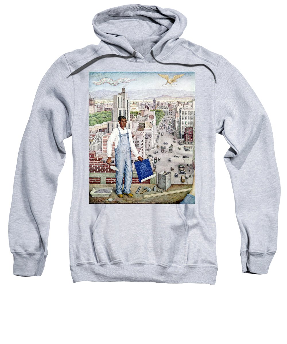 1949 Sweatshirt featuring the photograph Ogorman: City Of Mexico by Granger