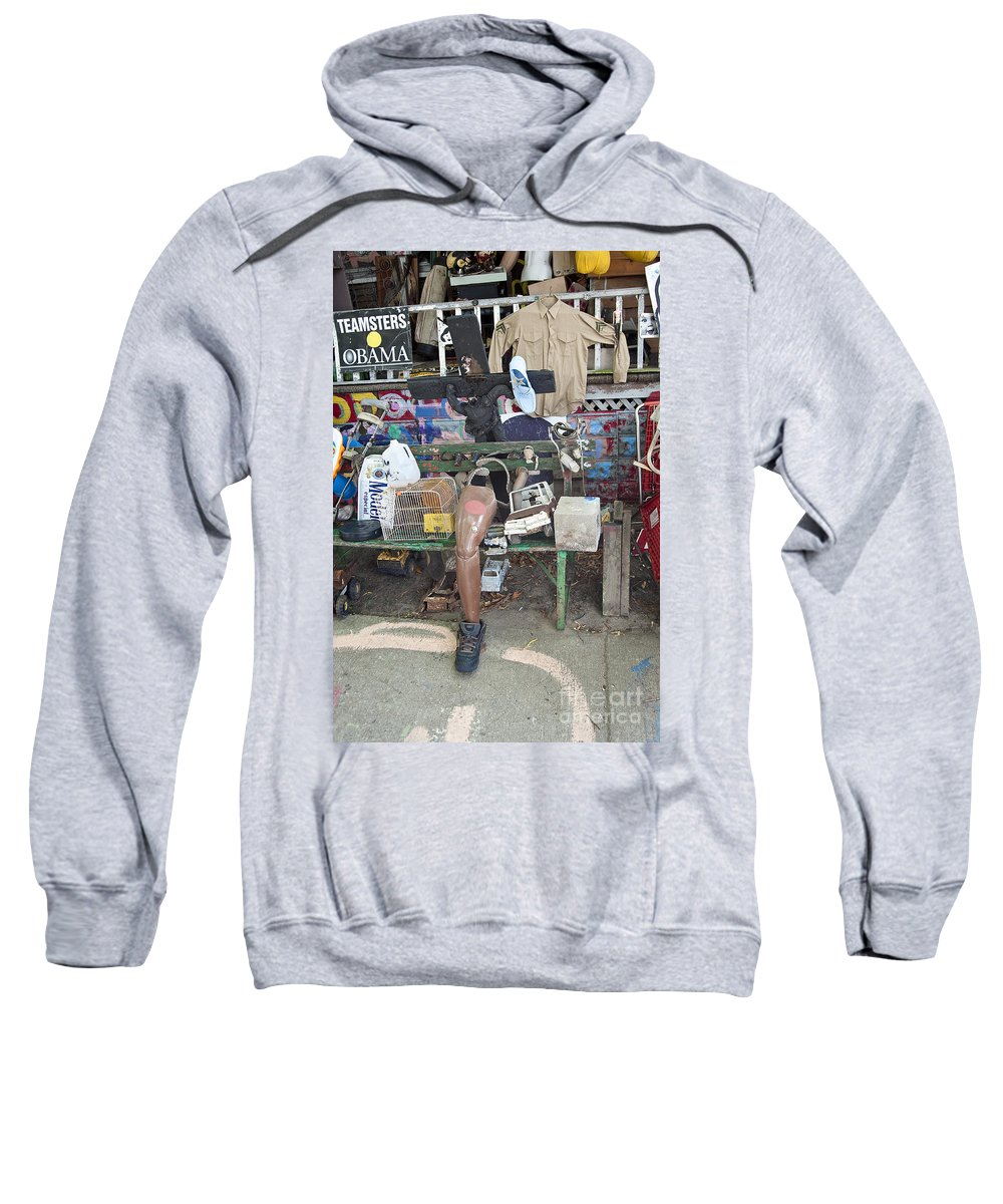 Heidelberg Project Sweatshirt featuring the photograph Oj House Detail by Steven Dunn