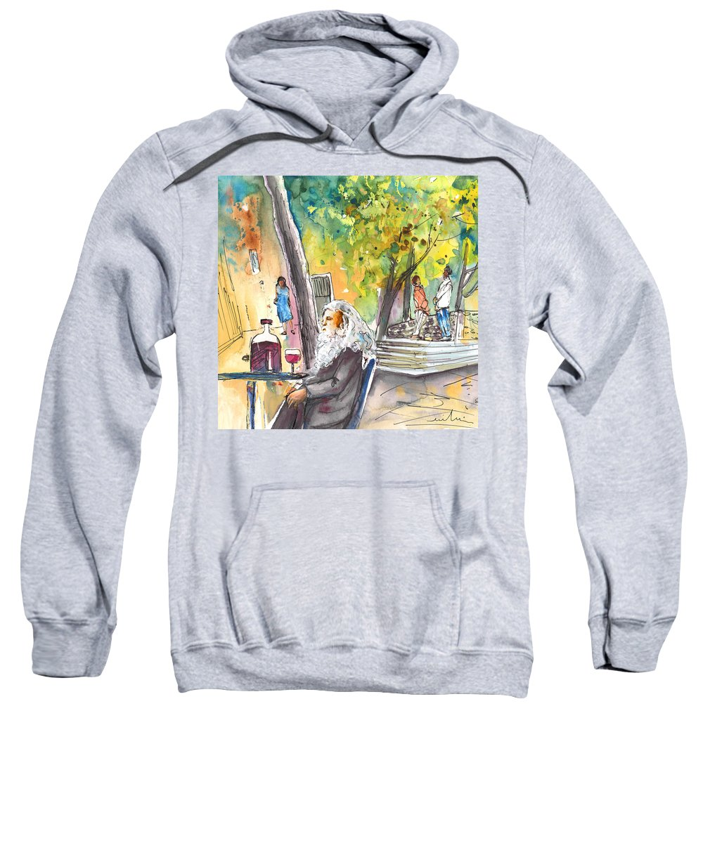 Italy Sweatshirt featuring the painting Old And Lonely In Italy 05 by Miki De Goodaboom