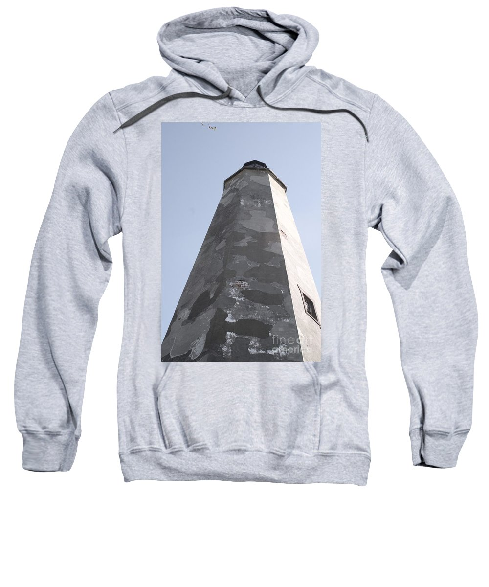 Lighthouse Sweatshirt featuring the photograph Old Baldy Lighthouse Nc by Nadine Rippelmeyer