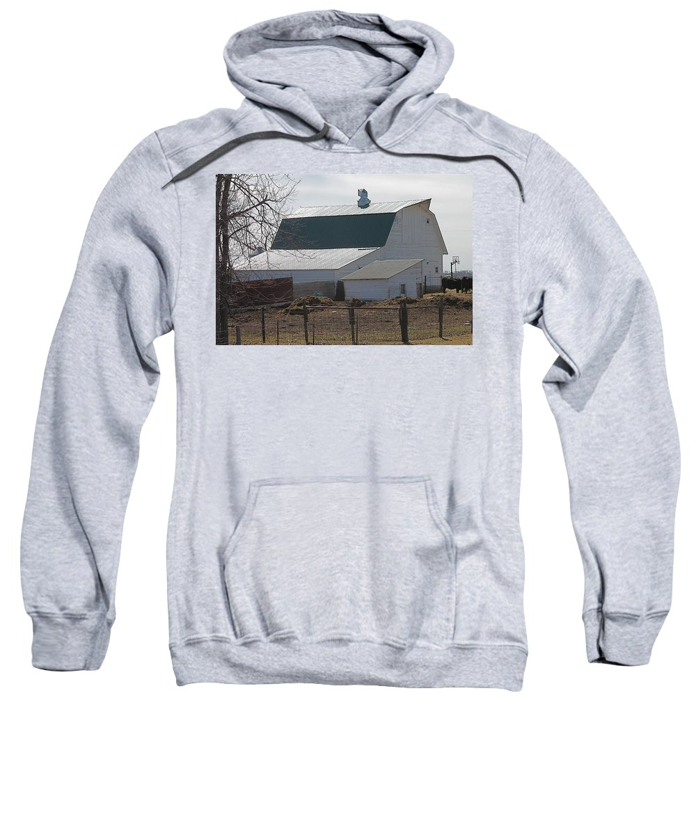 Old Barn Sweatshirt featuring the photograph Old Barn With New Roof by Wayne Williams