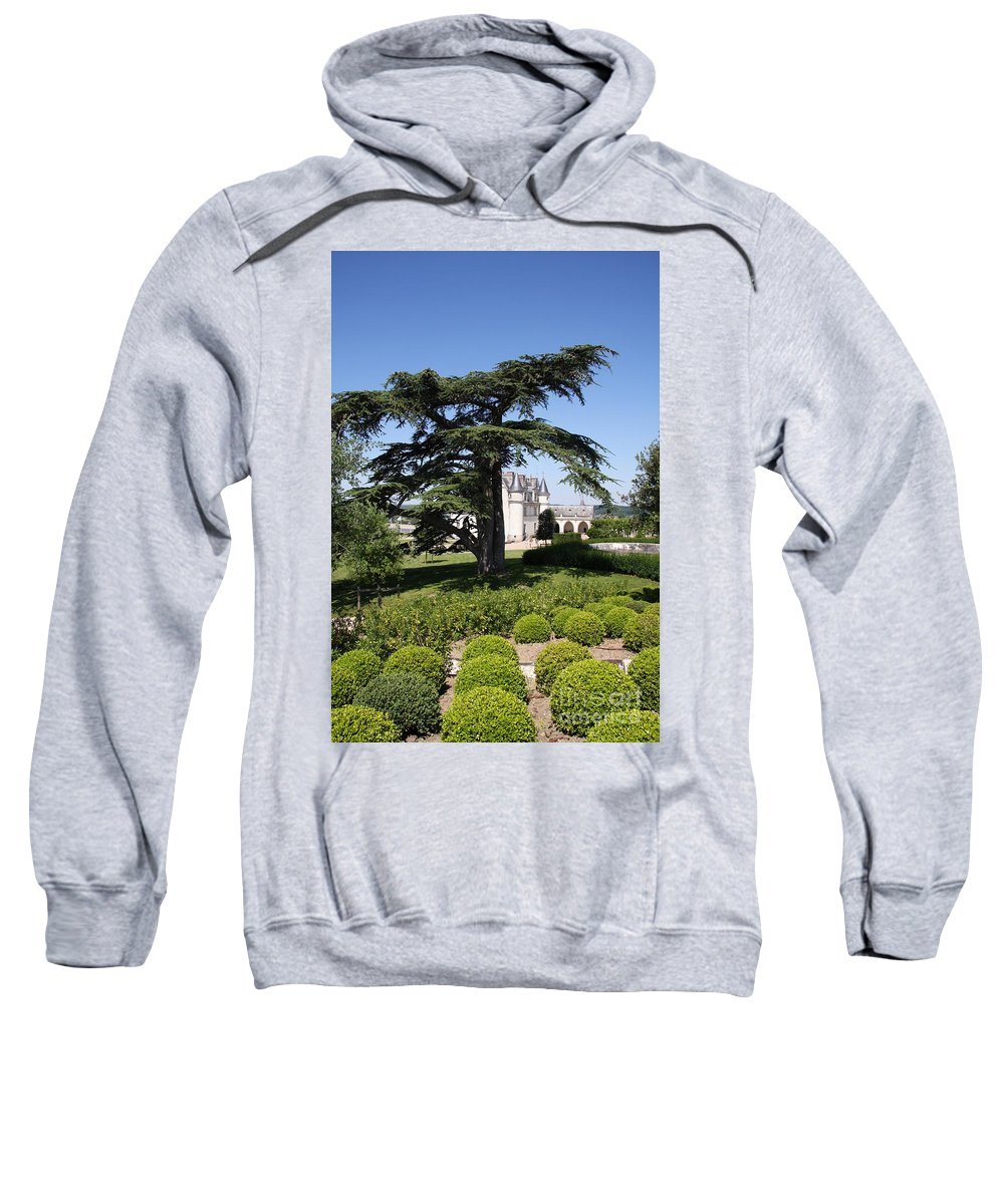 Cedar Sweatshirt featuring the photograph Old Cedar At Chateau Amboise by Christiane Schulze Art And Photography