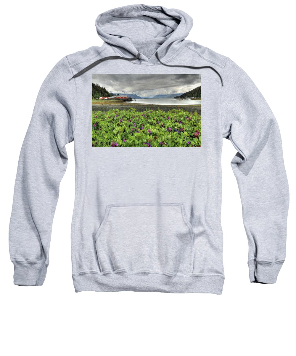 Haines Sweatshirt featuring the photograph Old Haines Cannery by Ryan Smith