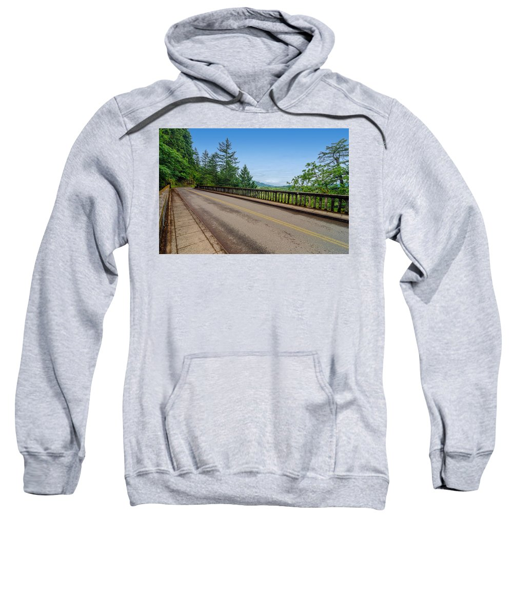Nature Sweatshirt featuring the photograph Old Highway And Forest by Jess Kraft