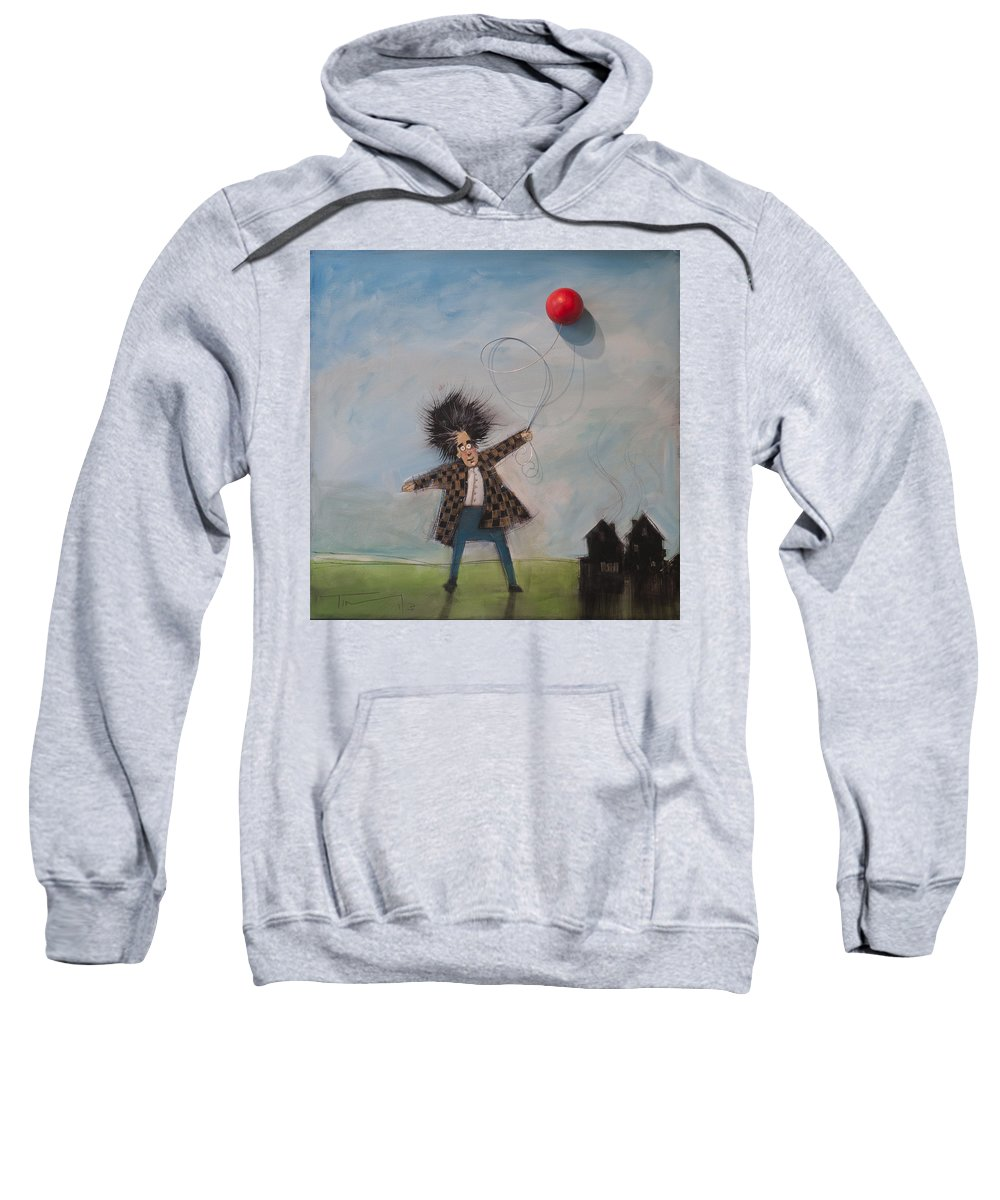 Balloon Sweatshirt featuring the painting Old Is The New Young by Tim Nyberg