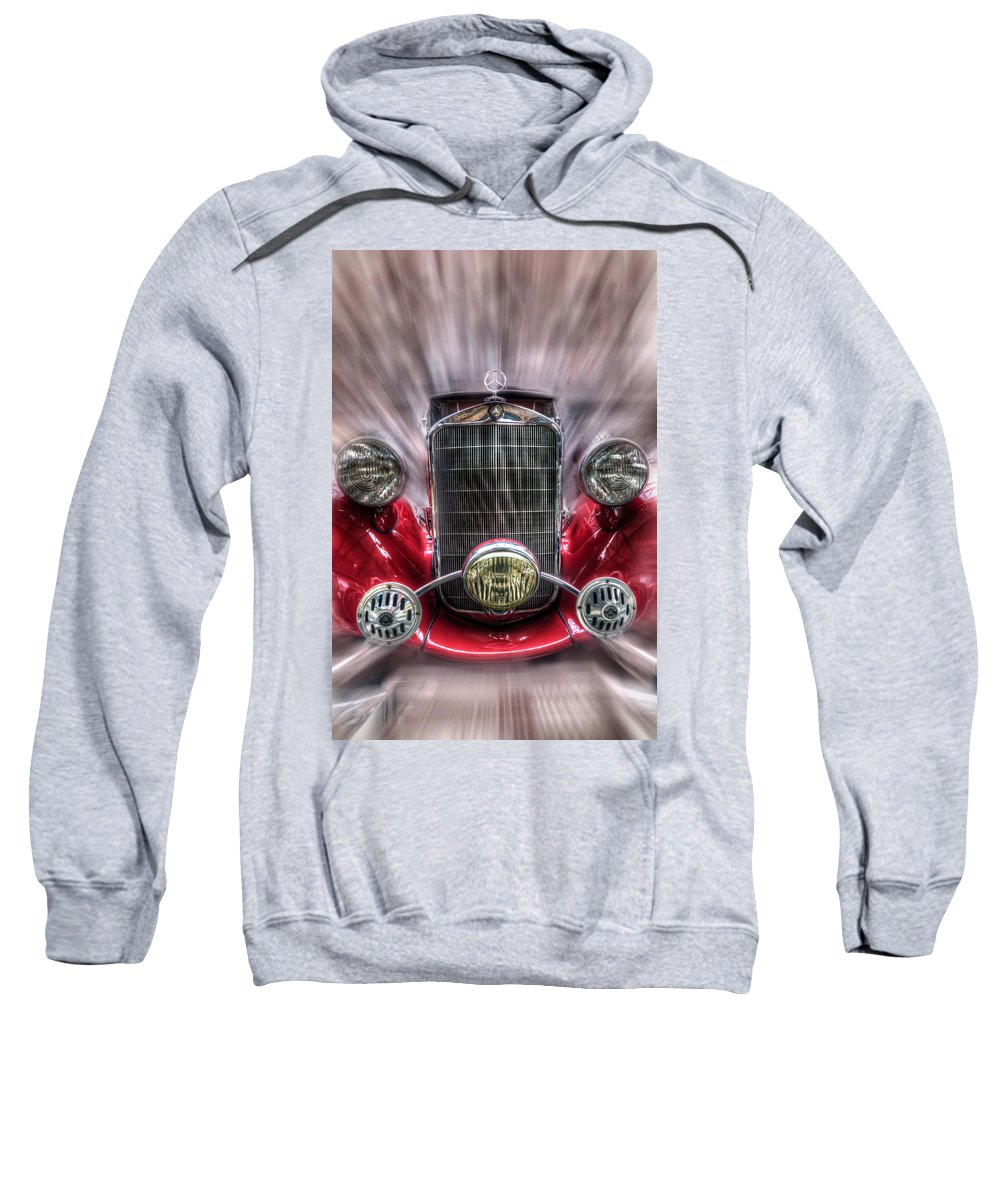 Car Sweatshirt featuring the digital art Old Red by Nathan Wright