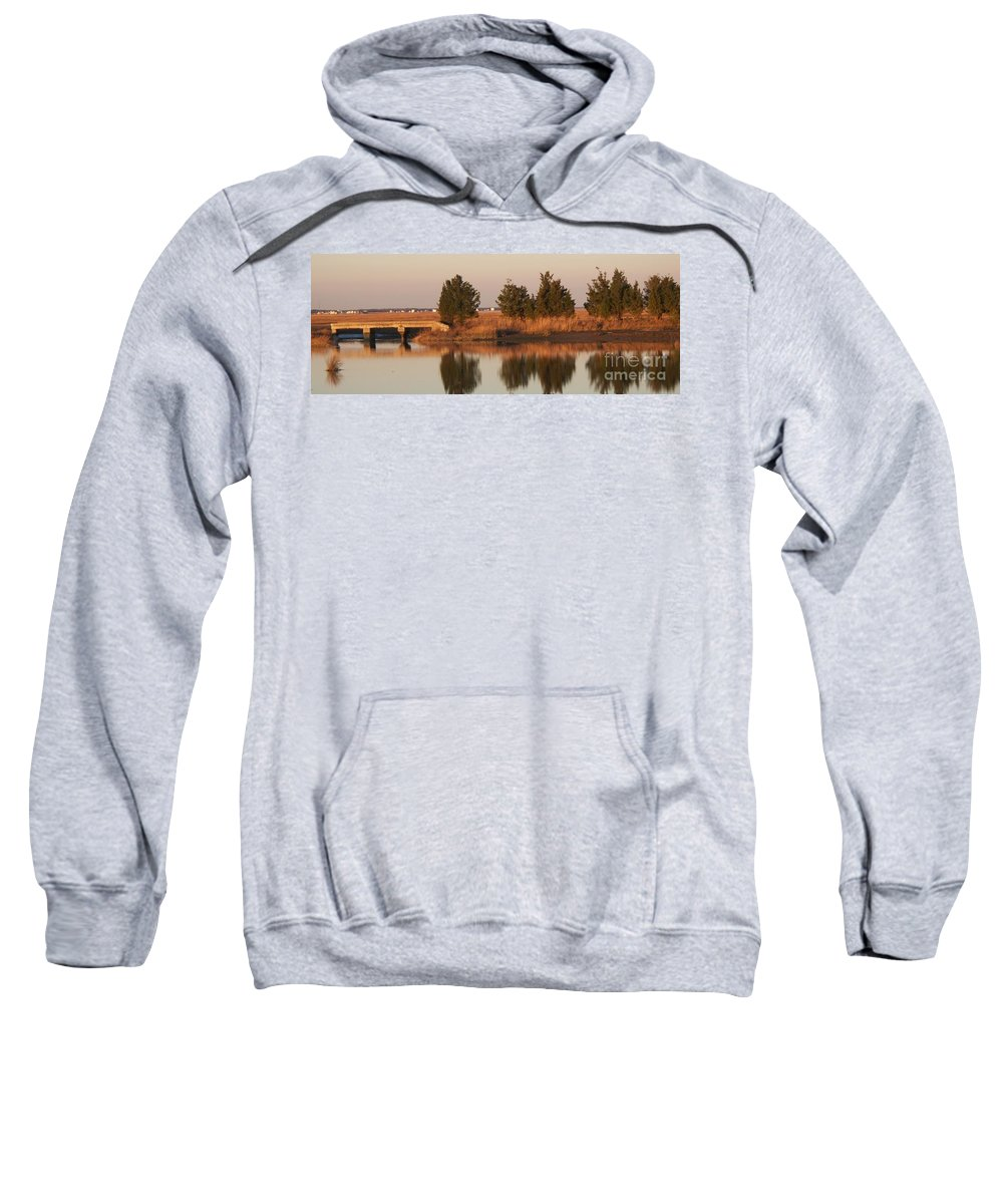Intercoastal Water Way Sweatshirt featuring the photograph Old Roads And Bridges South Jersey by Eric Schiabor