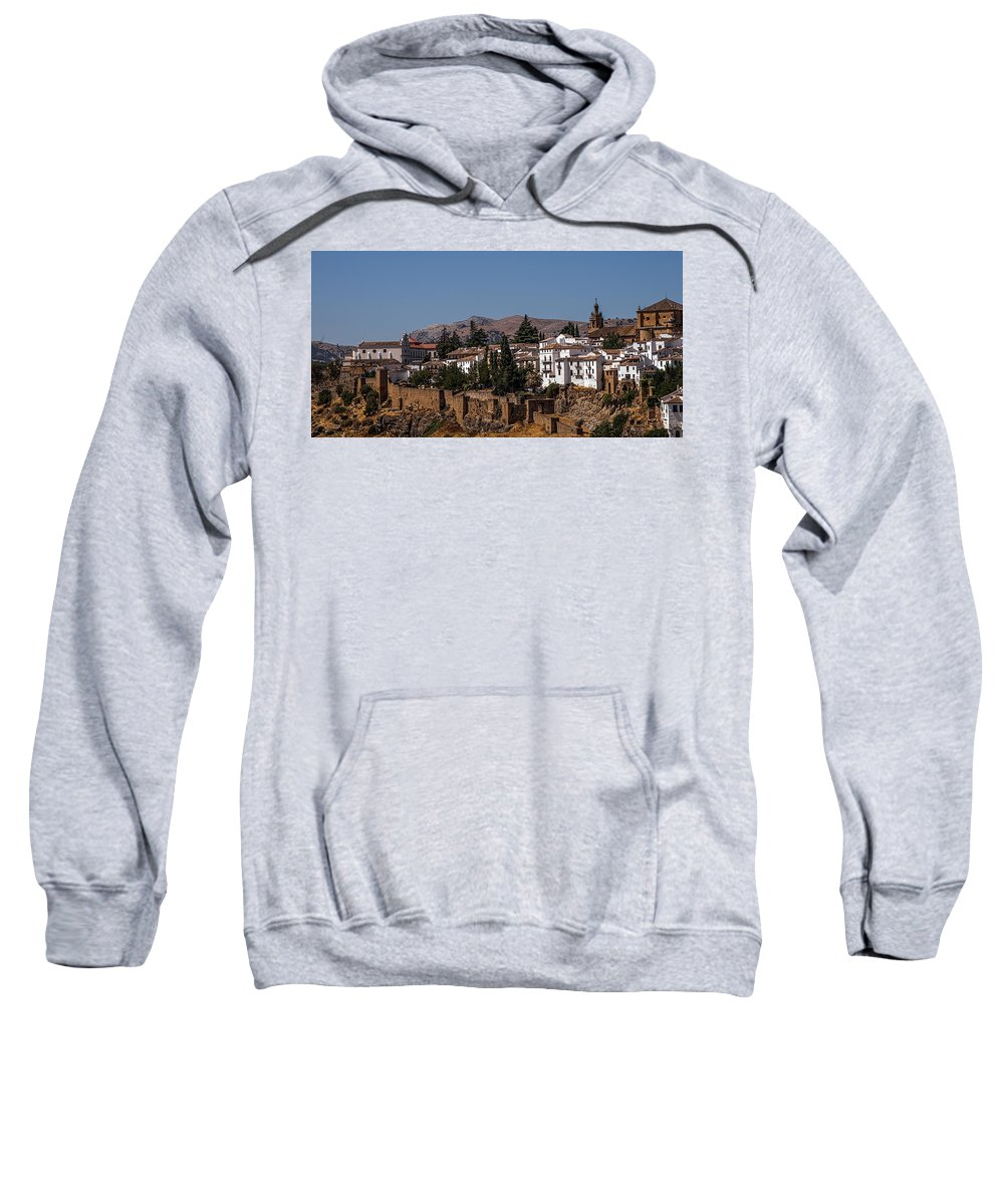 Spain Sweatshirt featuring the photograph Old Ronda Panoramic. Andalusia. Spain by Jenny Rainbow