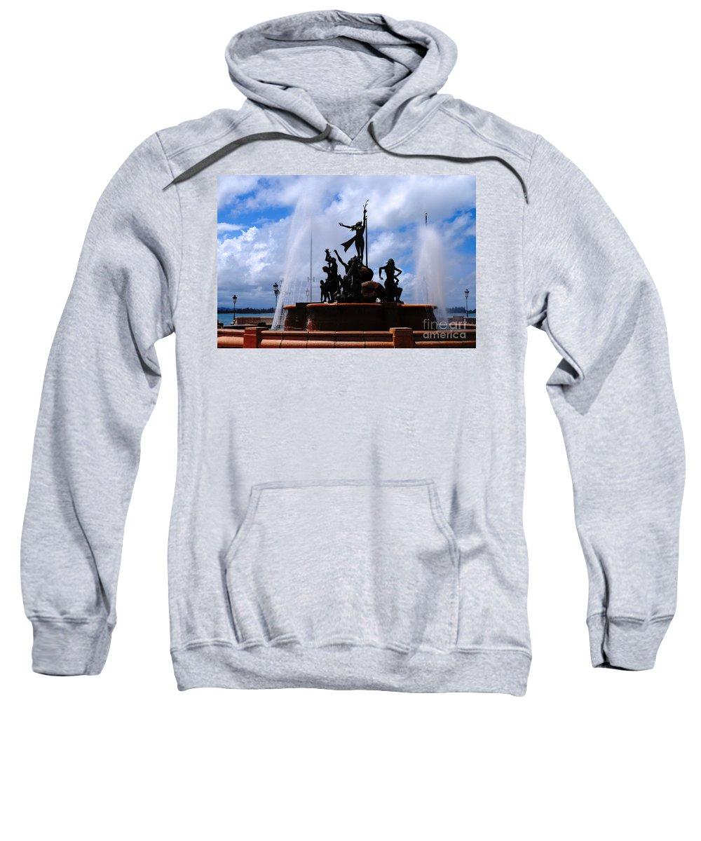 Old San Juan Sweatshirt featuring the photograph Old San Juan Puerto Rico by DejaVu Designs