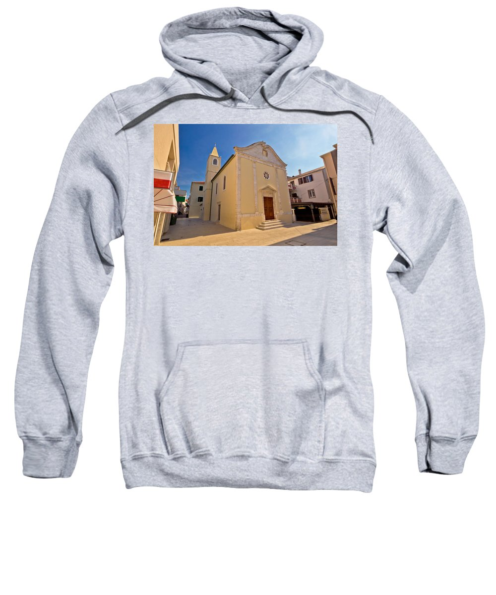 Croatia Sweatshirt featuring the photograph Old Streets Of Novalja Town by Brch Photography