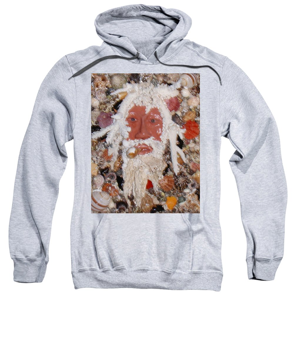Seashells Sweatshirt featuring the mixed media Old Timer by Ben Sivells