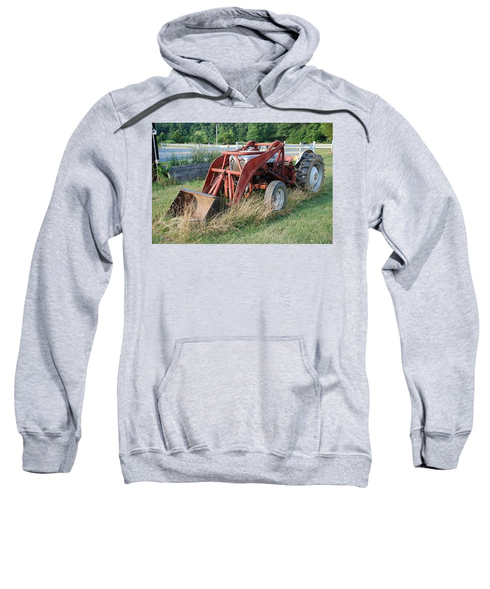 Tractor Sweatshirt featuring the photograph Old Tractor by Jennifer Ancker