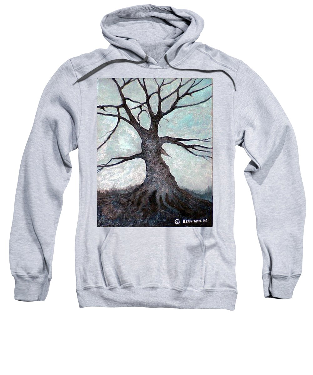 Landscape Sweatshirt featuring the painting Old Tree by Sergey Bezhinets