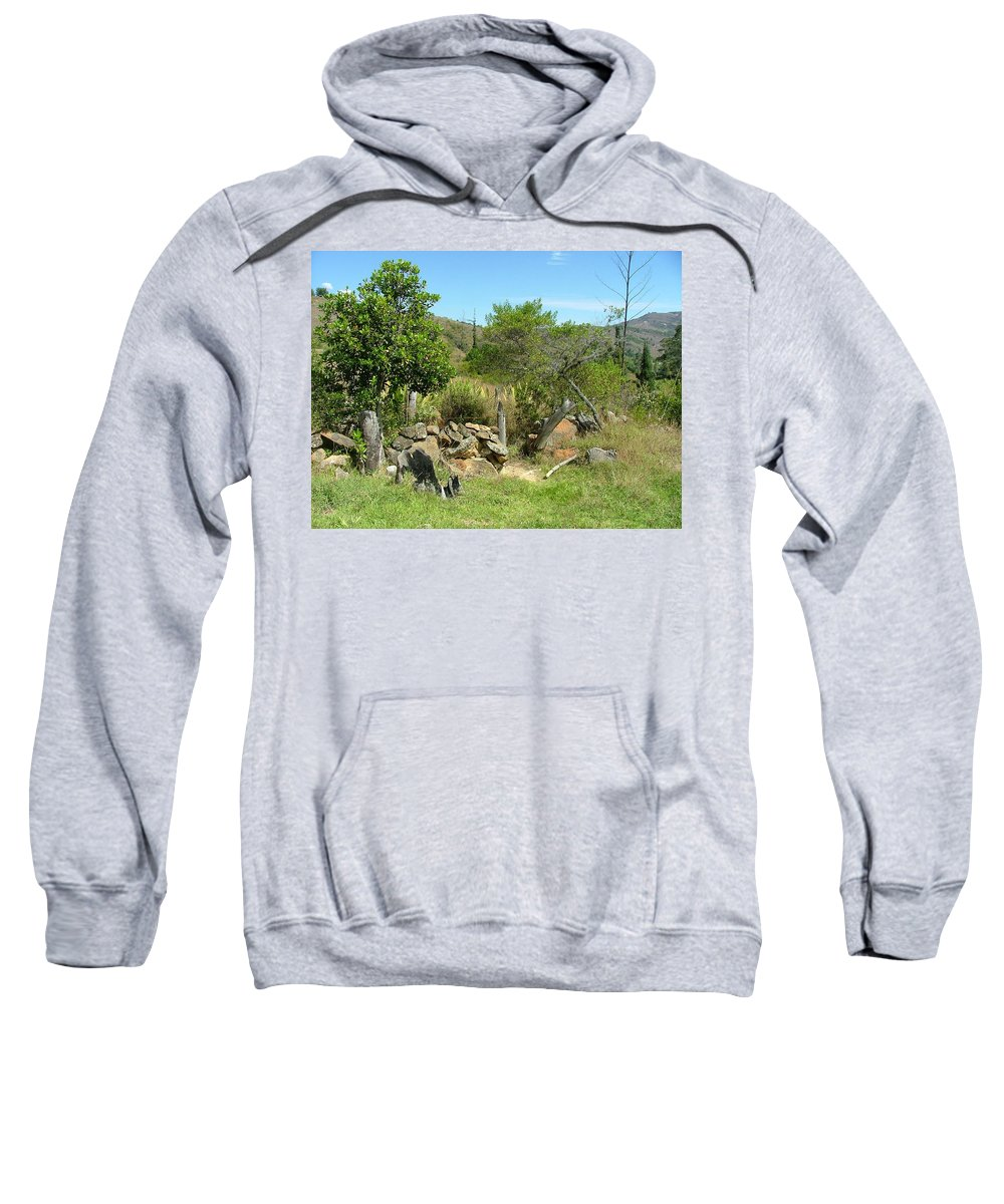 Landscape Sweatshirt featuring the photograph Old Walk Way by Dennis Pintoski