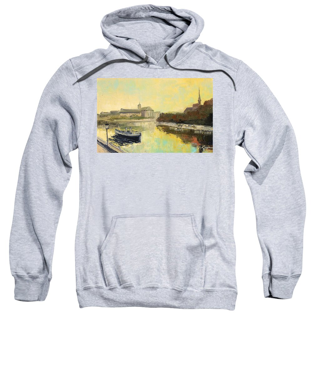 Wroclaw Sweatshirt featuring the painting Old Wroclaw - Poland by Luke Karcz