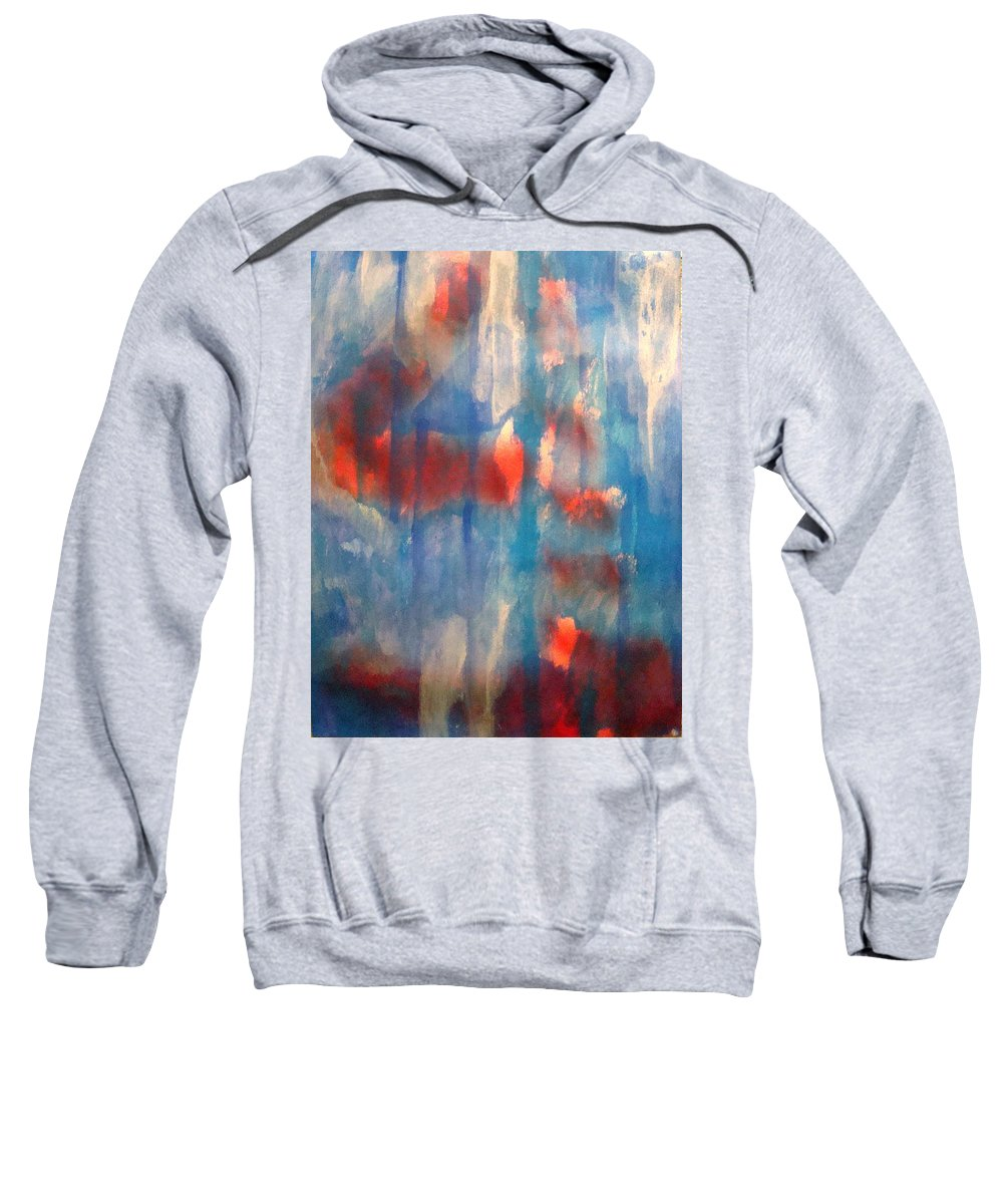 Christian Sweatshirt featuring the painting On A Clear Day - Red Forever by W Todd Durrance
