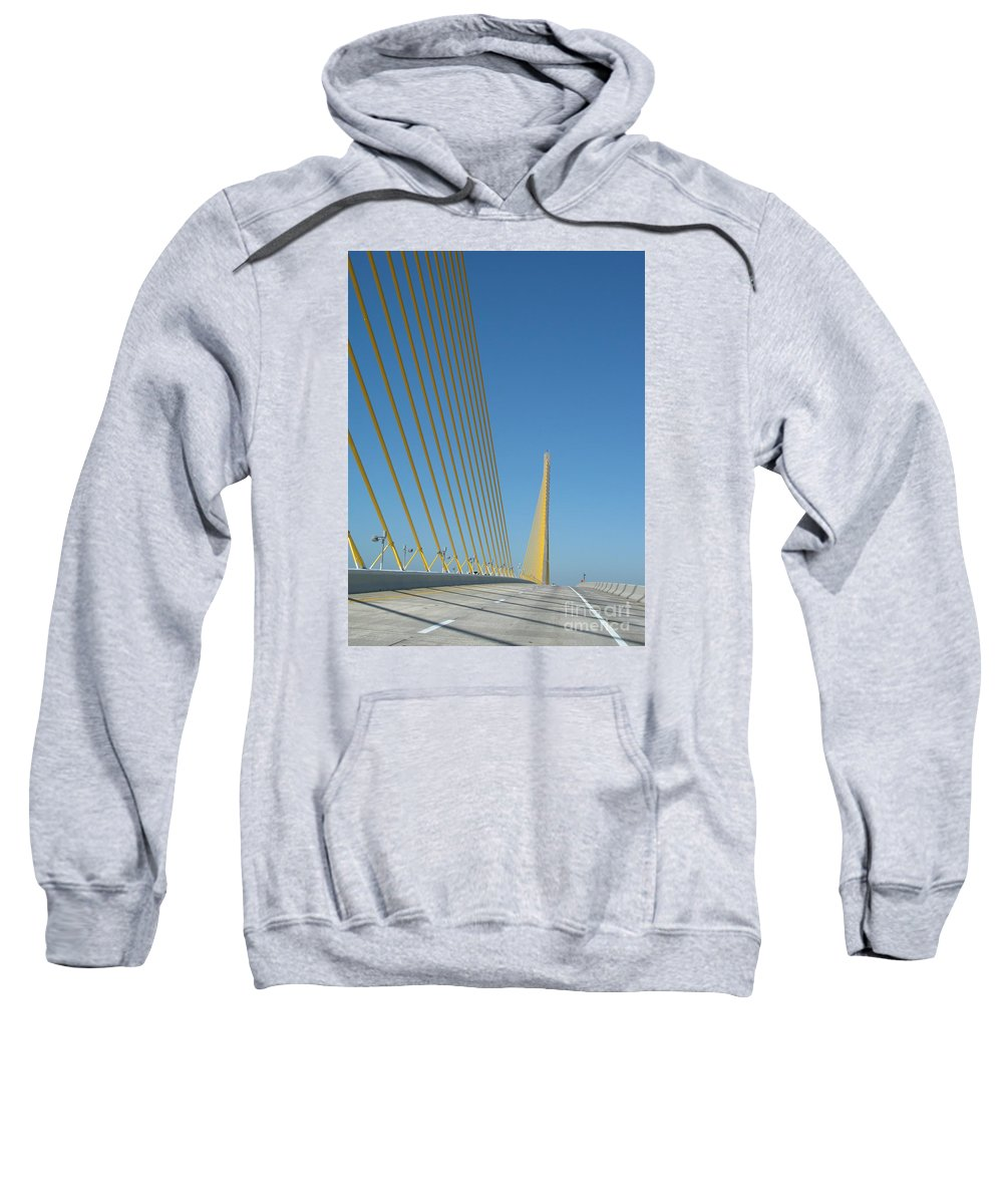 Bridge Sweatshirt featuring the photograph On The Sky Way Brigde by Christiane Schulze Art And Photography