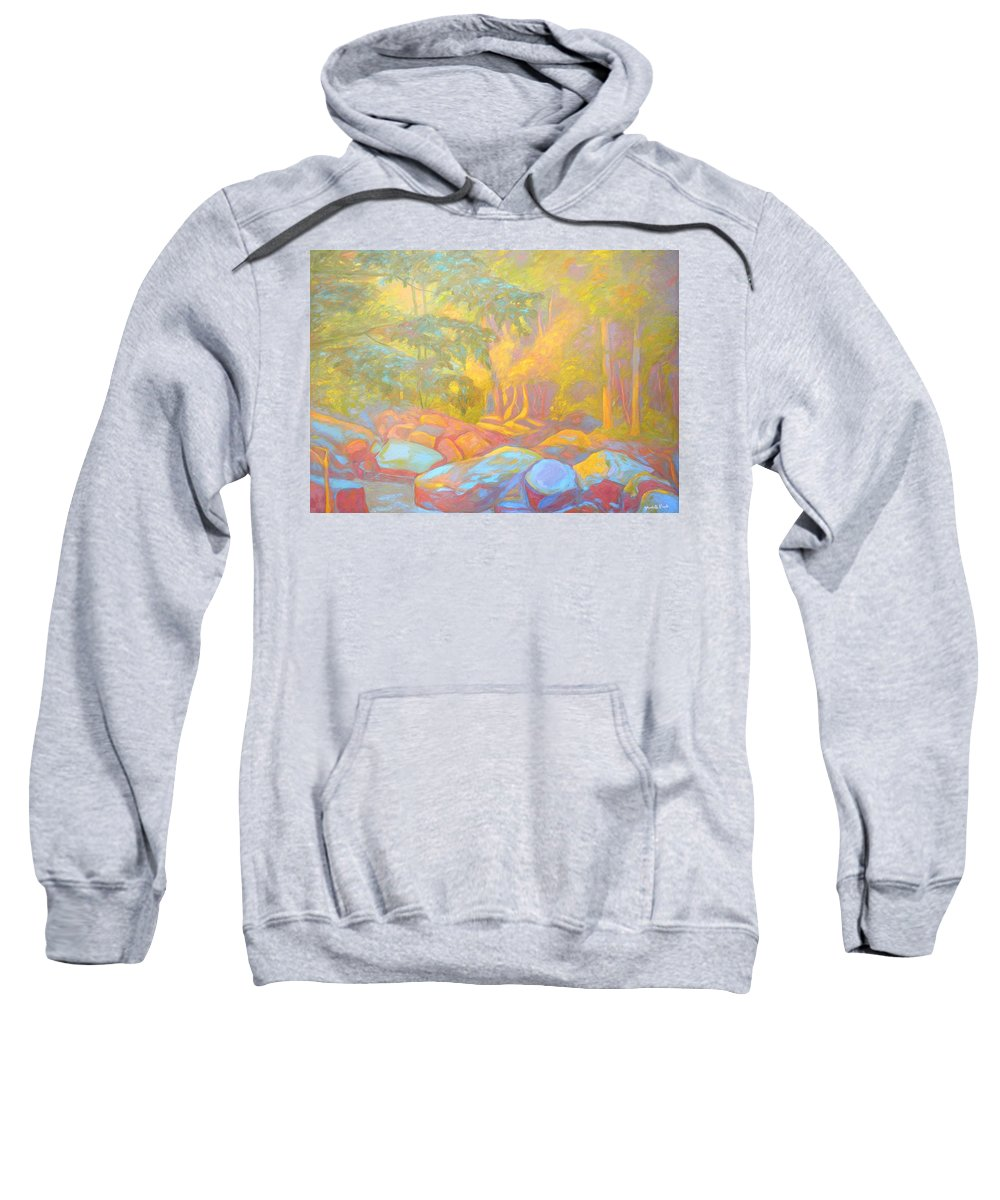 Kendall Kessler Sweatshirt featuring the painting On The Way To The Cascades by Kendall Kessler