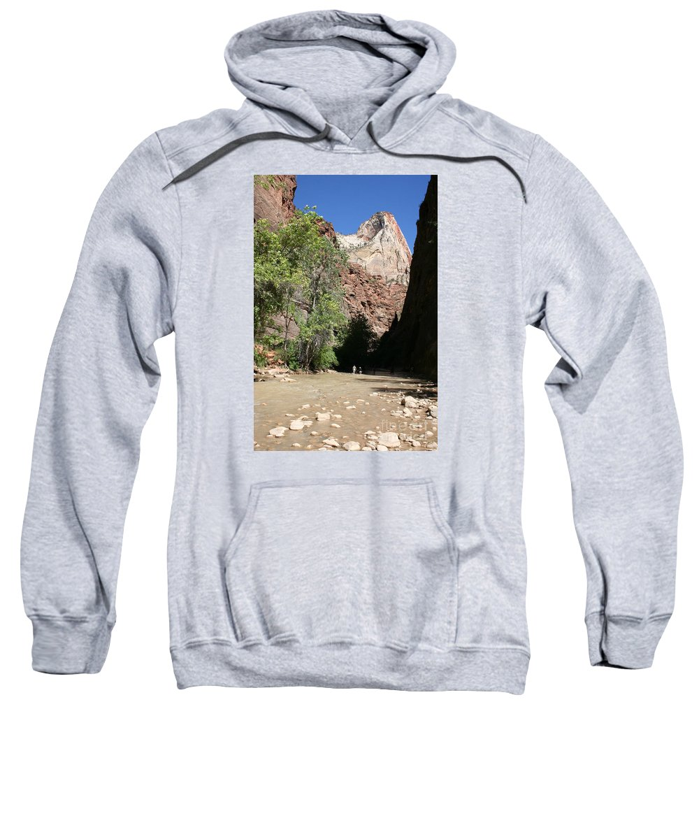 Narrows Sweatshirt featuring the photograph On The Way To The Narrows by Christiane Schulze Art And Photography