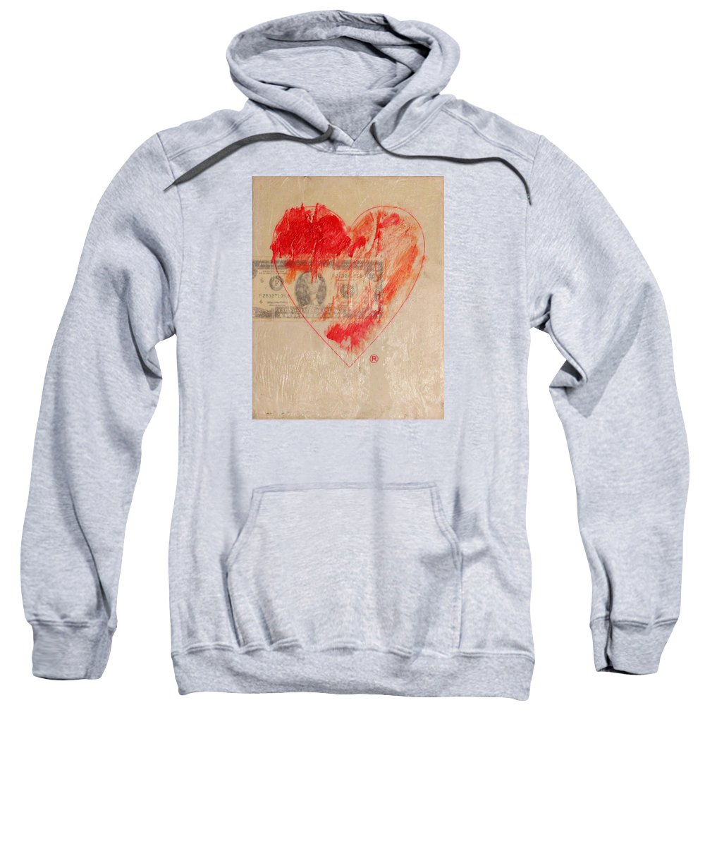 2009 Sweatshirt featuring the painting One Series 4 - Misery Is A Company by Will Felix