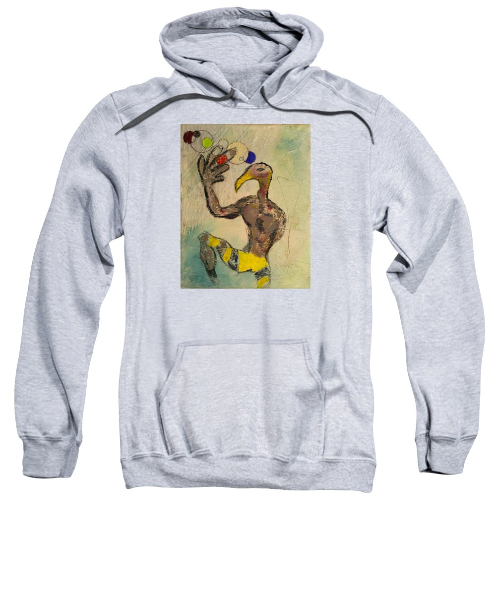 2009 Sweatshirt featuring the painting One Series 9 - Chimera by Will Felix