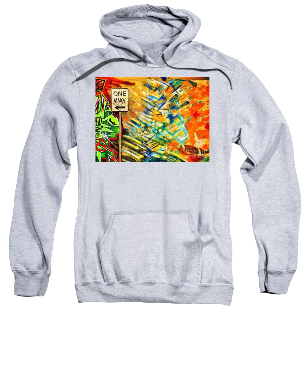 Graffti Sweatshirt featuring the photograph One Way Street by Tara Turner