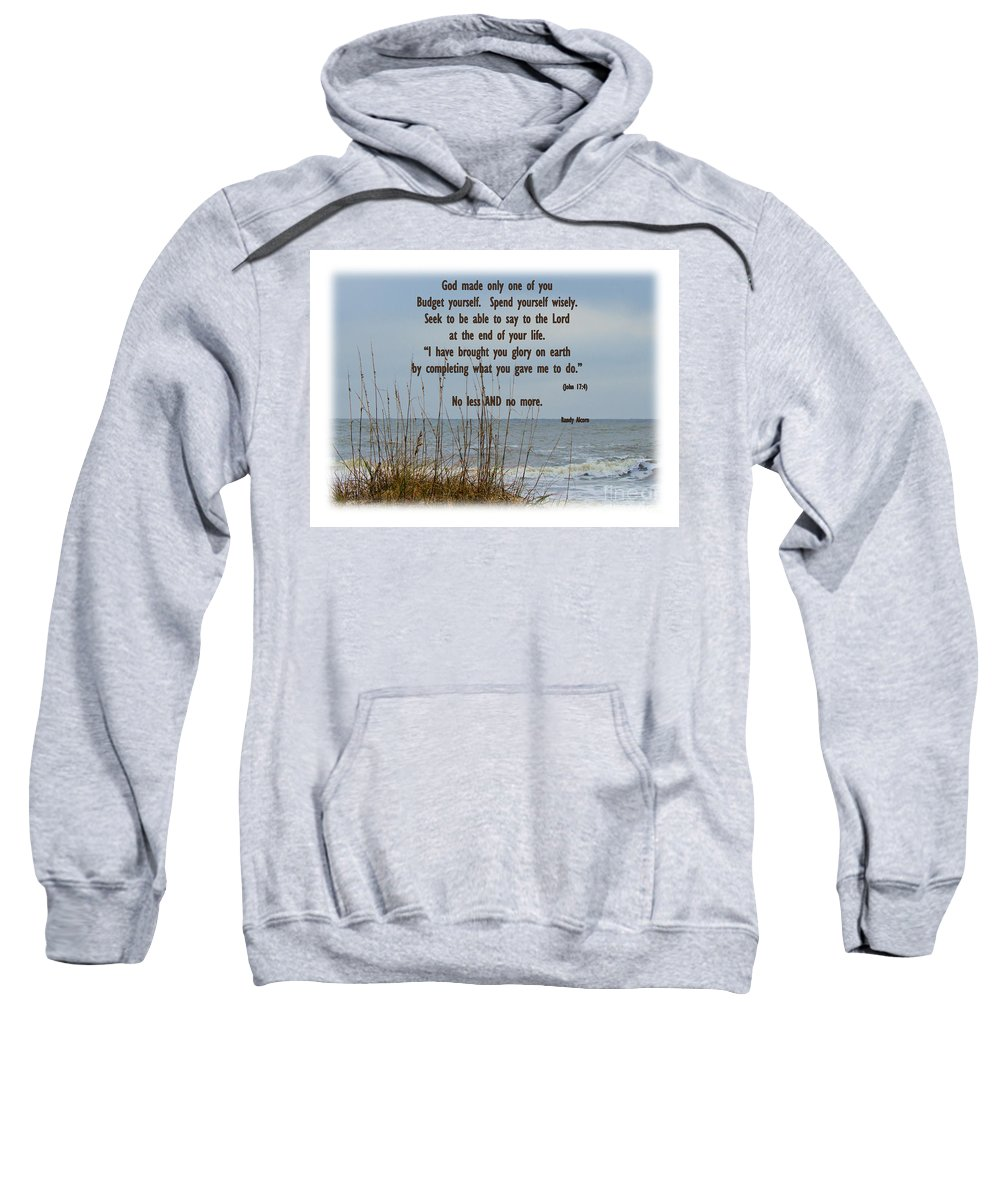 Beach Sweatshirt featuring the photograph Only One Of Me by Sandra Clark