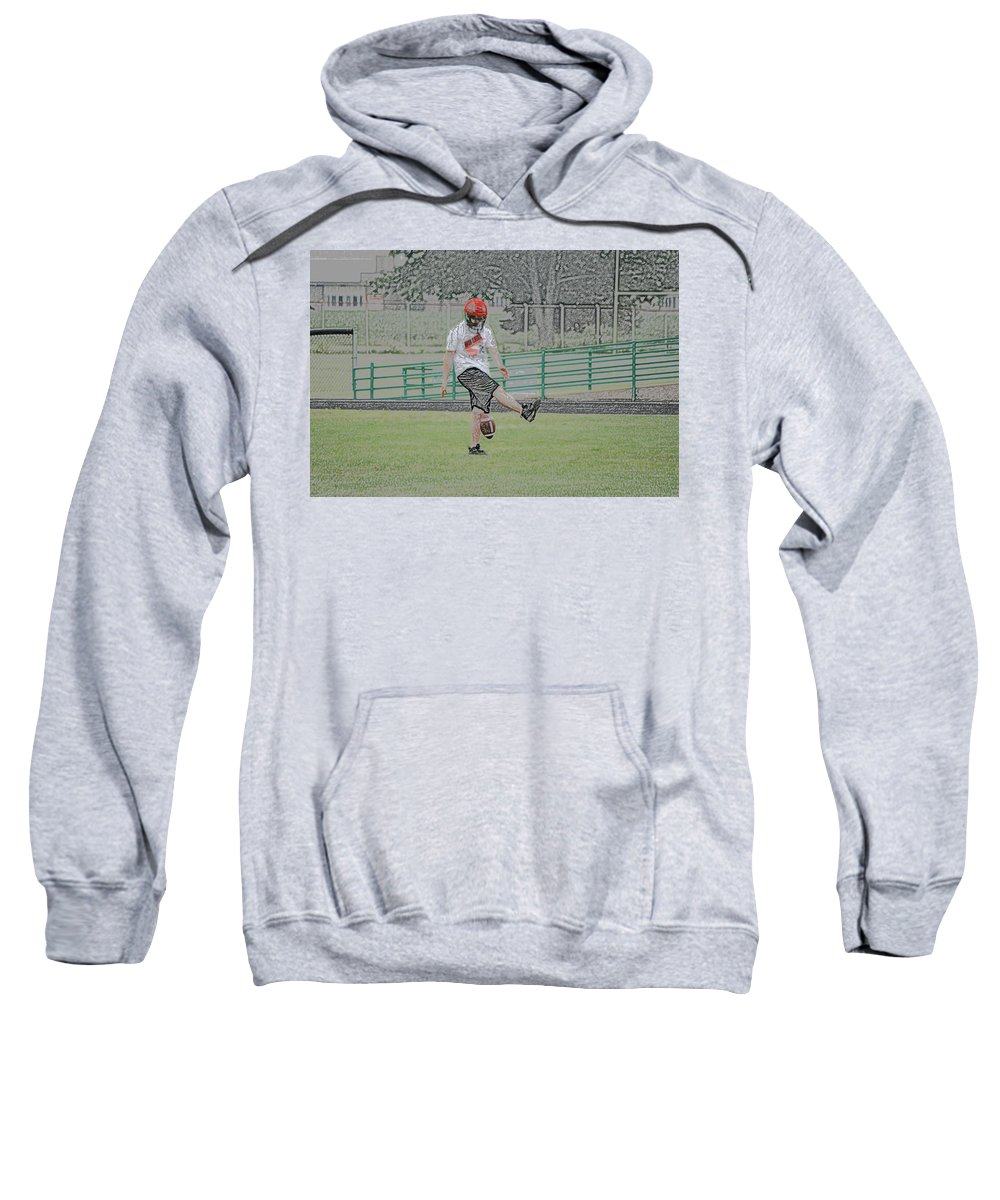 Digital Art Sweatshirt featuring the photograph Oops Digital Art by Thomas Woolworth