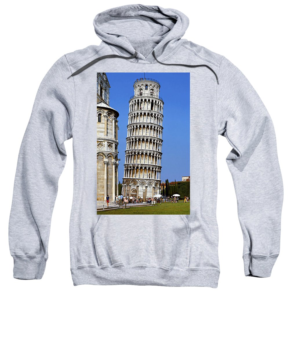 Tower Sweatshirt featuring the photograph Oops by Steve Harrington