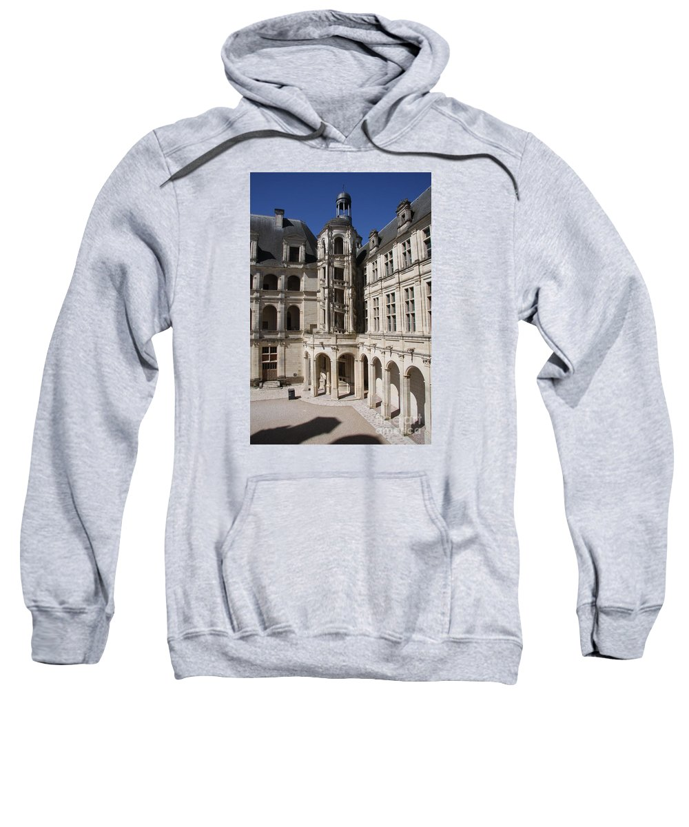 Palace Sweatshirt featuring the photograph Open Staircase Chateau Chambord - France by Christiane Schulze Art And Photography