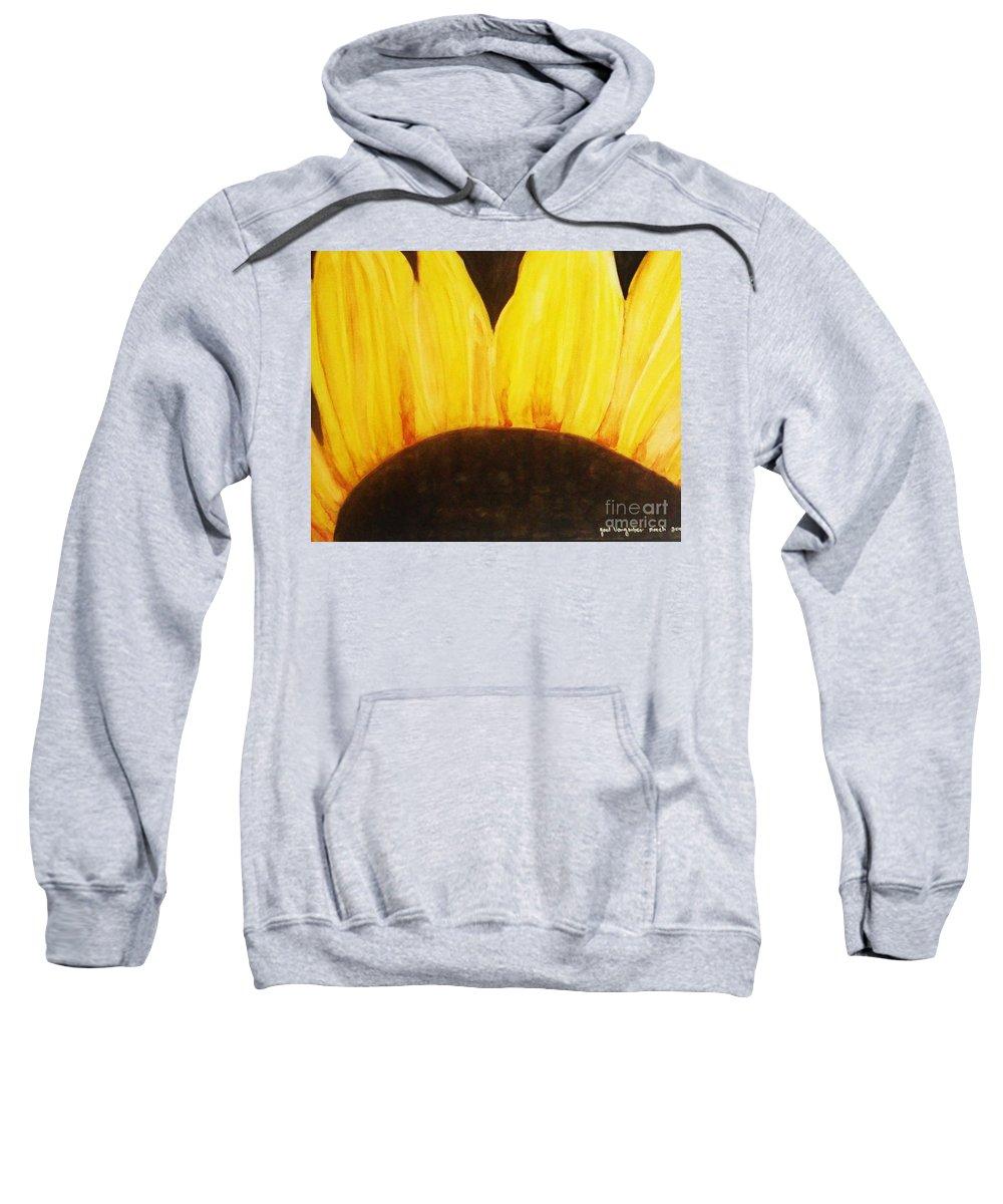 Water Color Flower Sweatshirt featuring the painting Optimism by Yael VanGruber