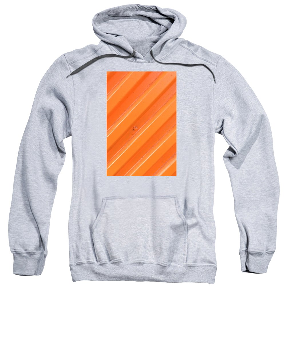 Orange Sweatshirt featuring the photograph Orange Bolt by Art Block Collections
